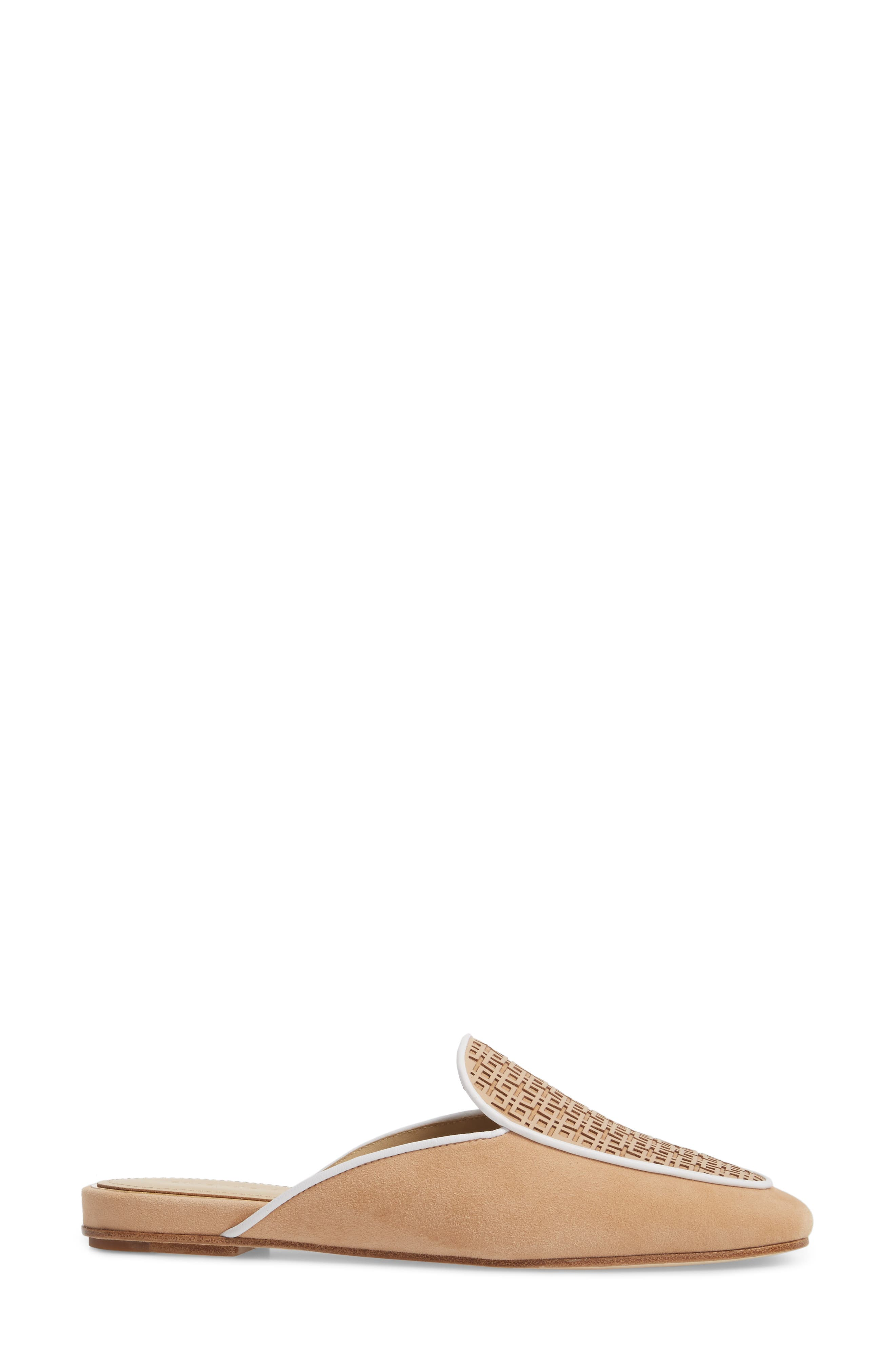 Caymen Mule,                             Alternate thumbnail 3, color,                             NATURAL/ FAWN/ WHITE