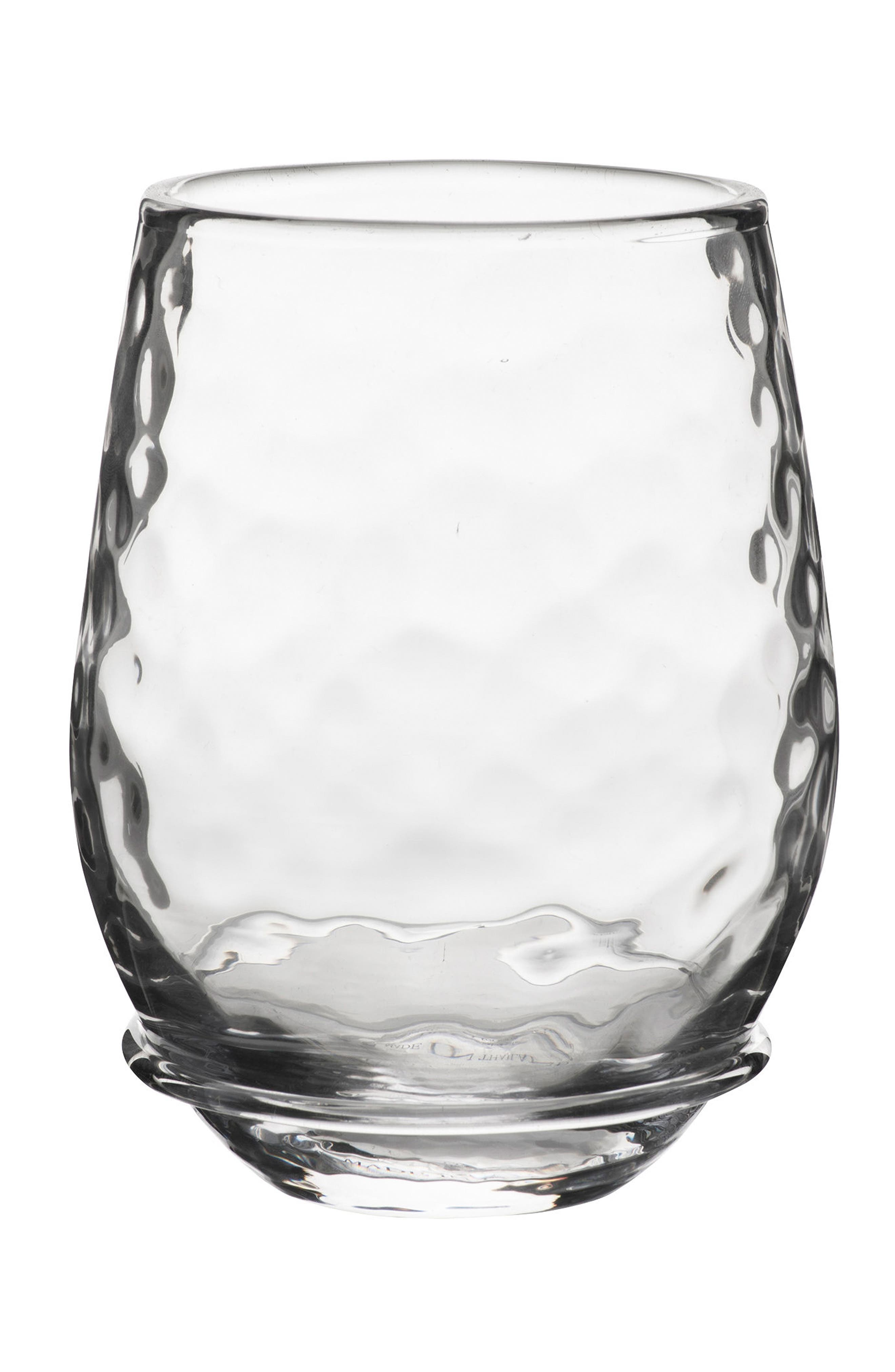 Carine Stemless White Wine Glass,                             Main thumbnail 1, color,                             CLEAR