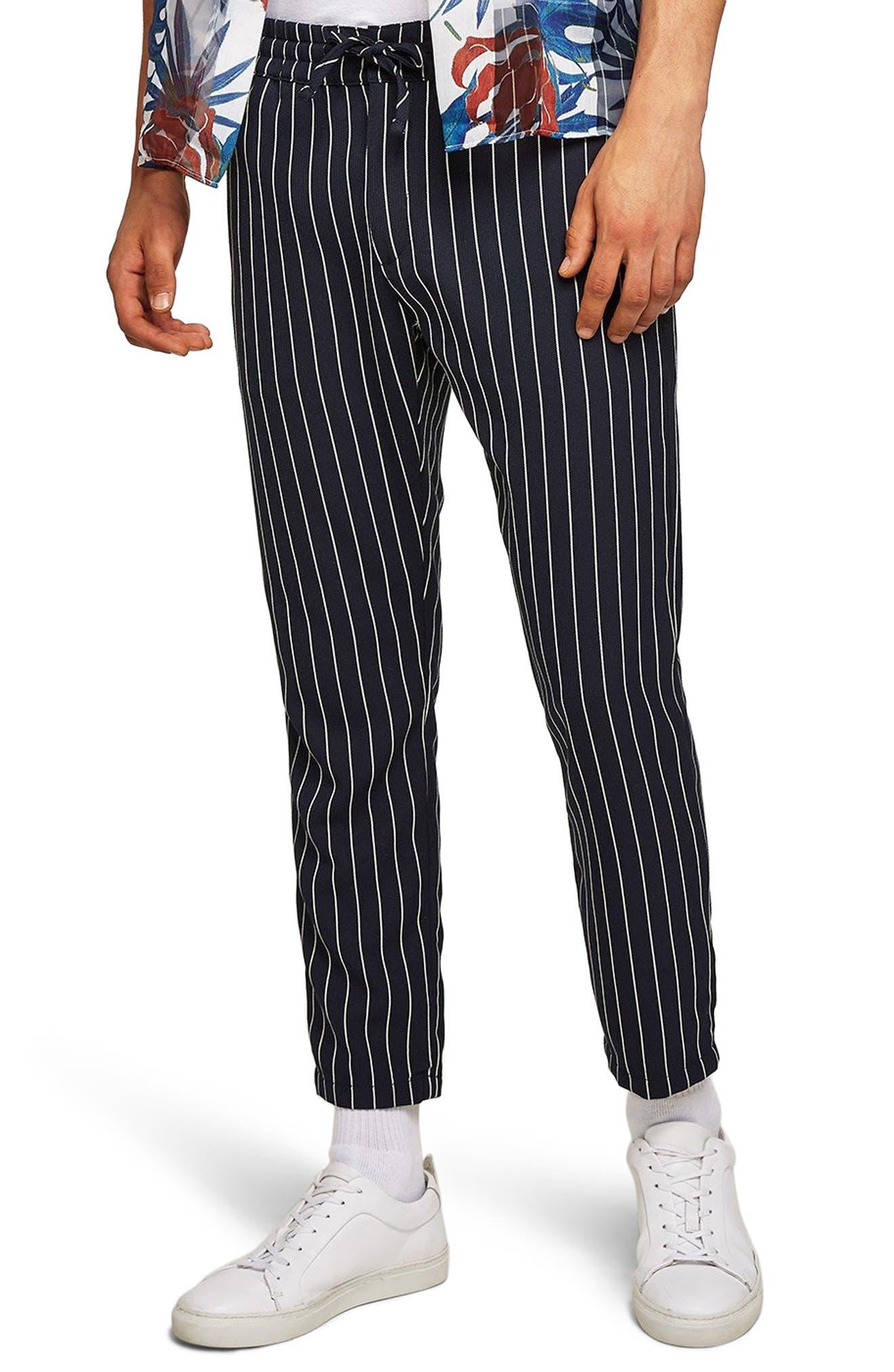 Pinstripe Woven Jogger Pants,                             Main thumbnail 1, color,                             400