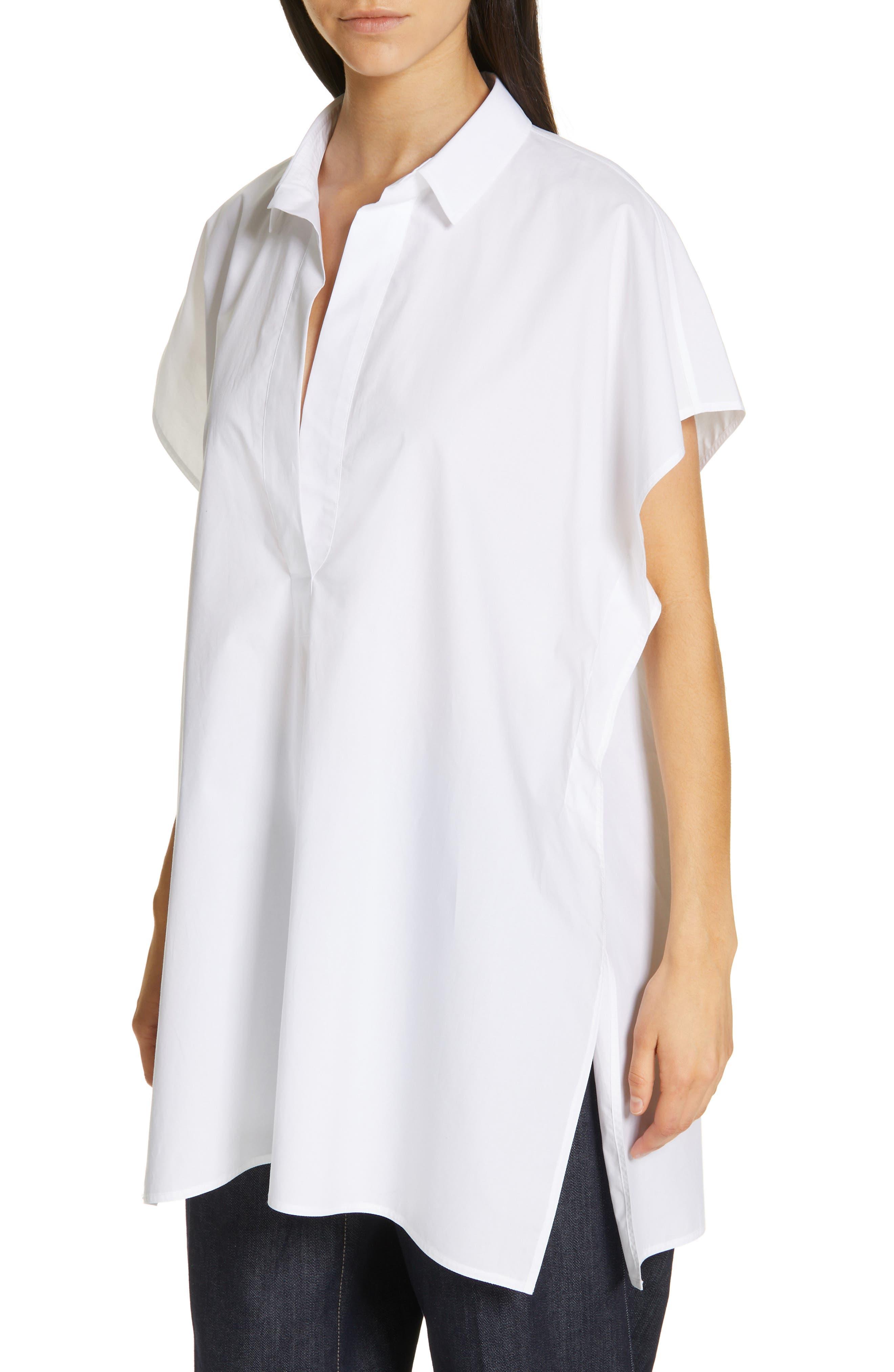 Oversize Dolman Sleeve Blouse,                             Alternate thumbnail 4, color,                             OPTICAL WHITE