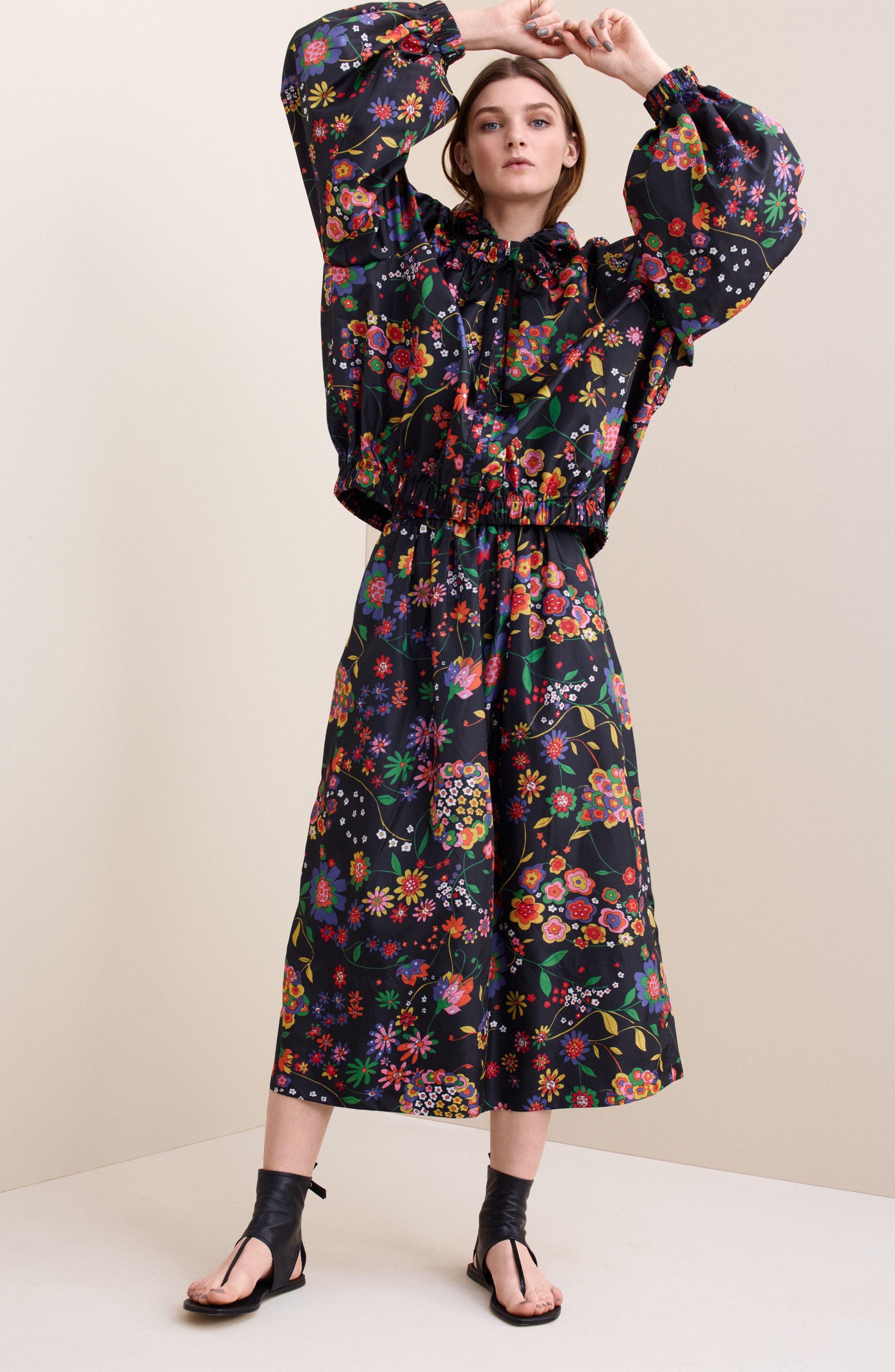 Print Tech Floral Skirt,                             Alternate thumbnail 8, color,                             402