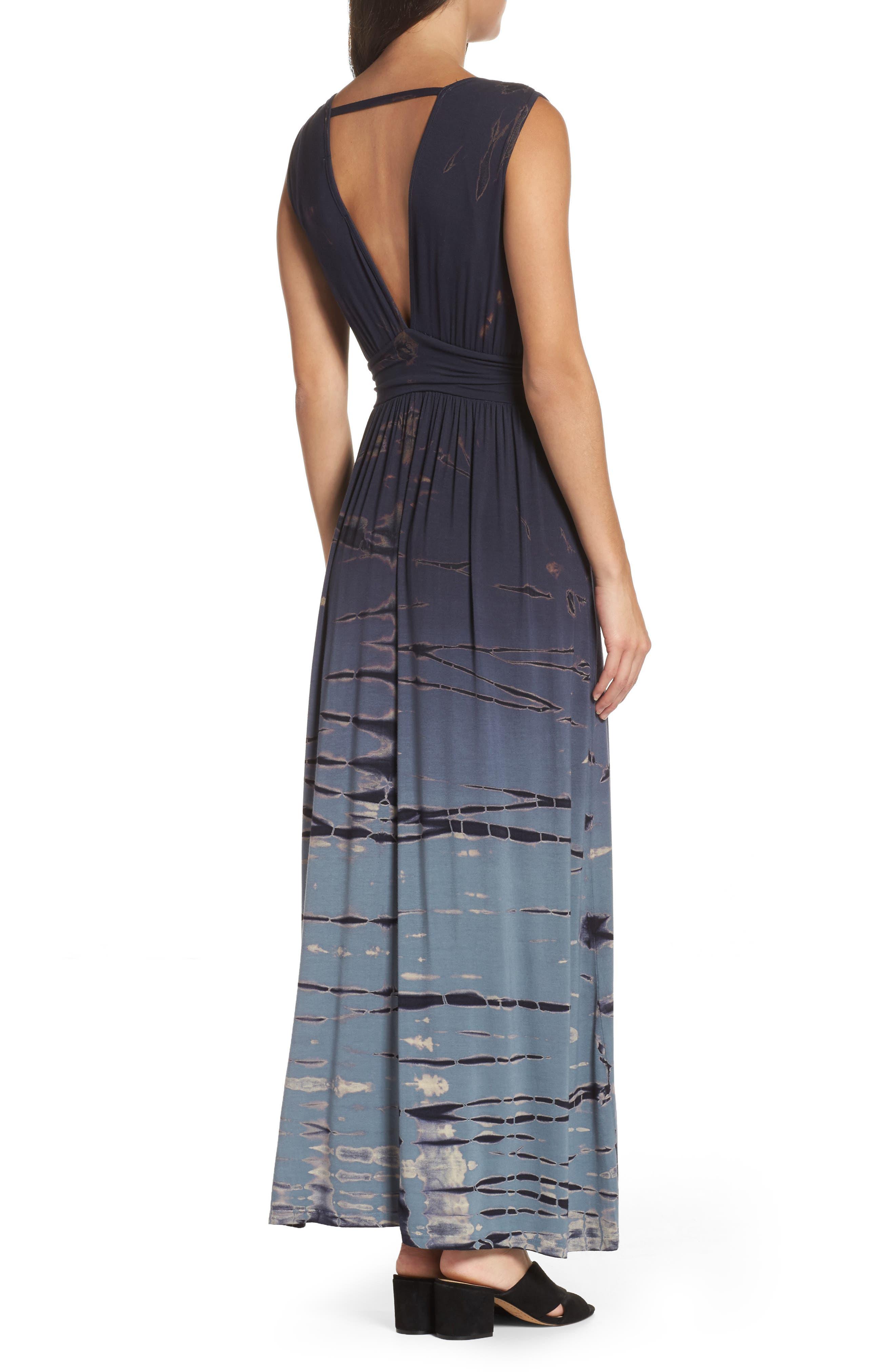Tie Dye Ombré Jersey Maxi Dress,                             Alternate thumbnail 2, color,                             400