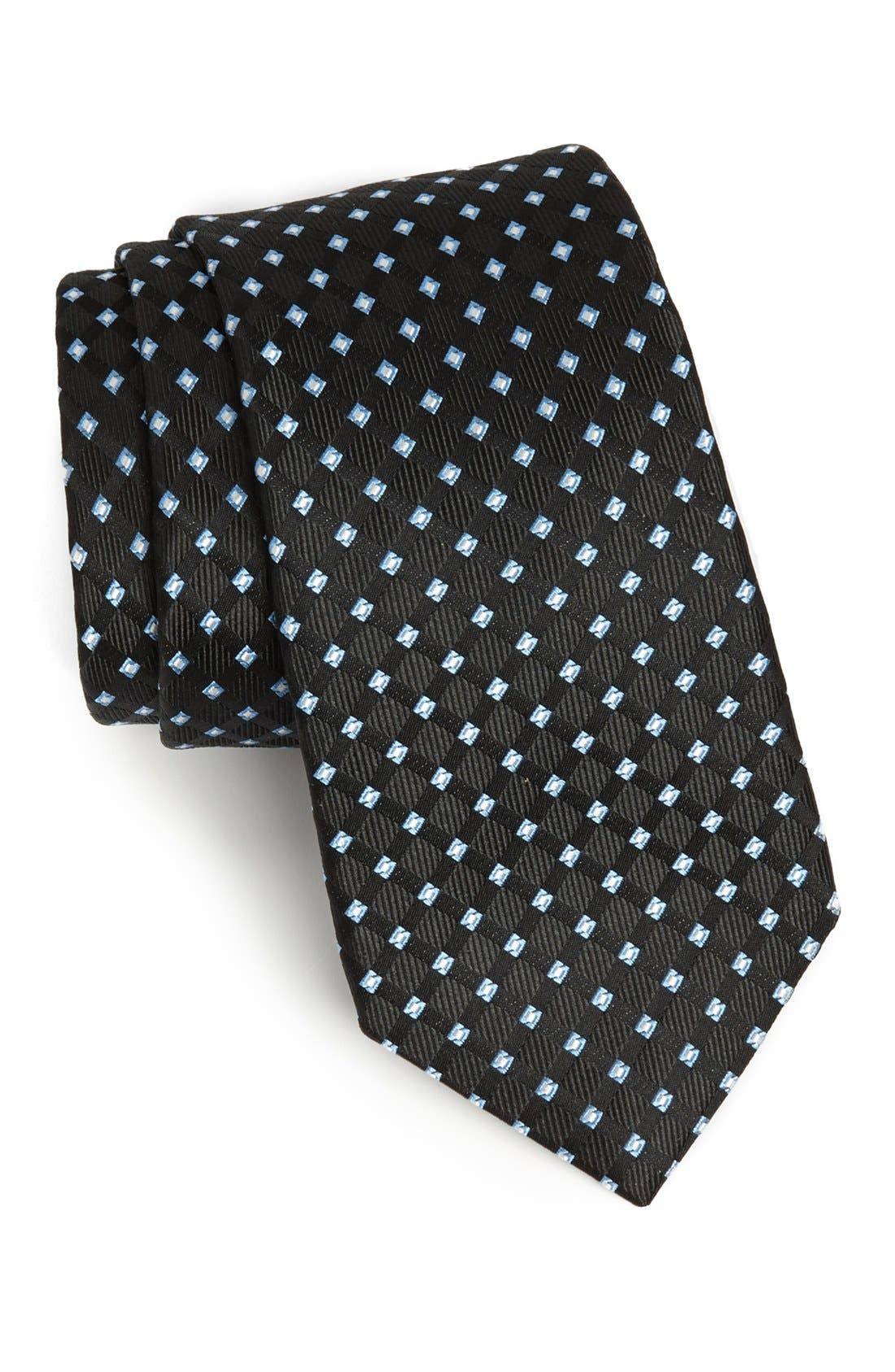 Woven Silk Tie,                         Main,                         color, 001