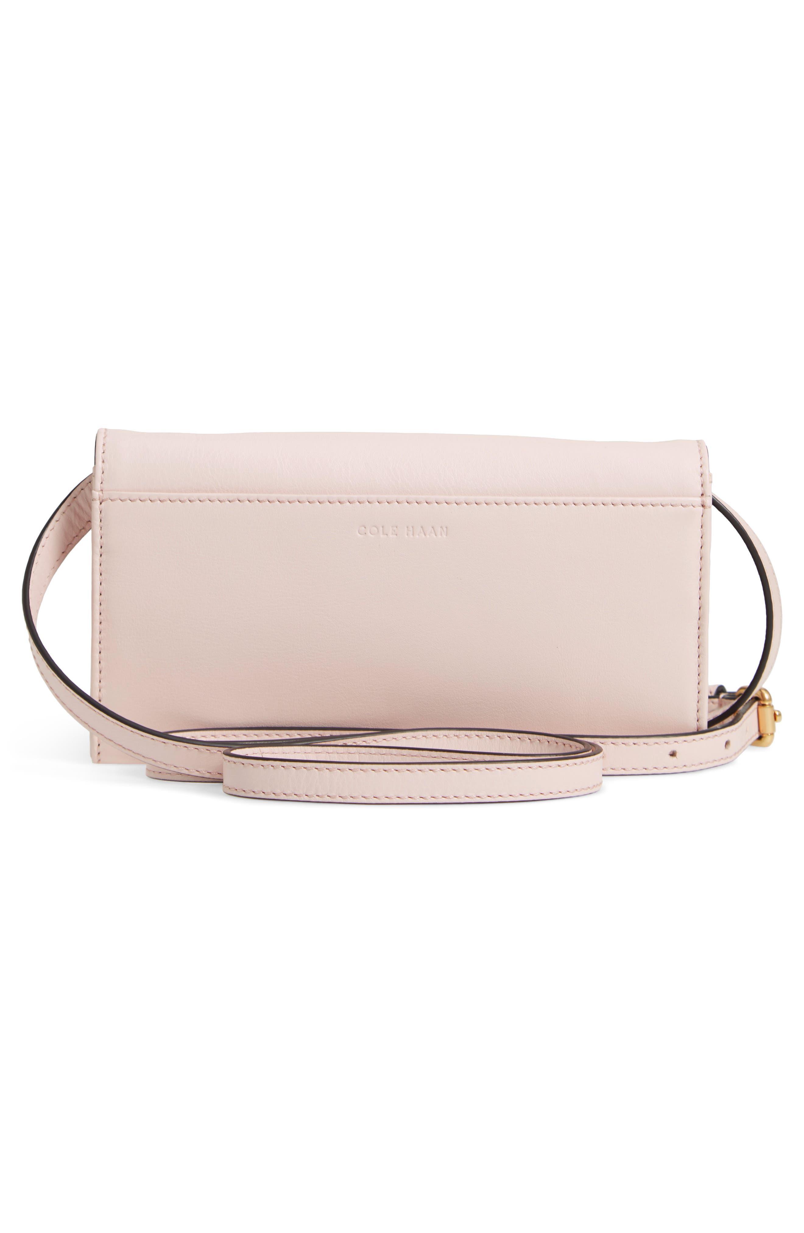 Zoe Leather Smartphone Crossbody Bag,                             Alternate thumbnail 3, color,                             650