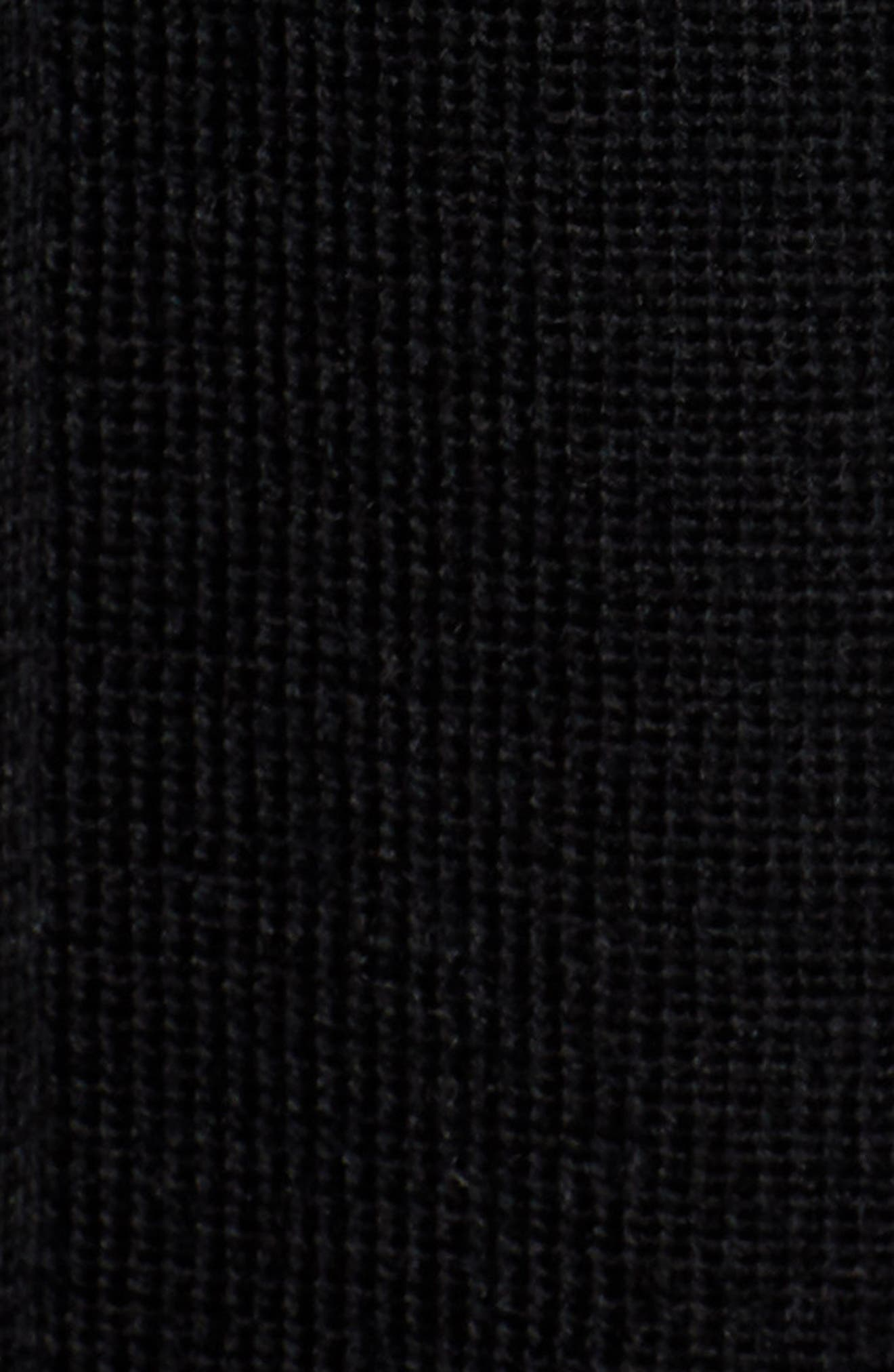 Pleated Sweater Skirt,                             Alternate thumbnail 5, color,                             BLACK