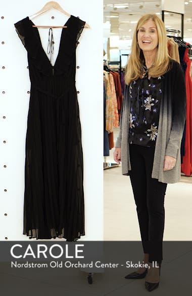 Pleated Plunge Chiffon Maxi Dress, sales video thumbnail