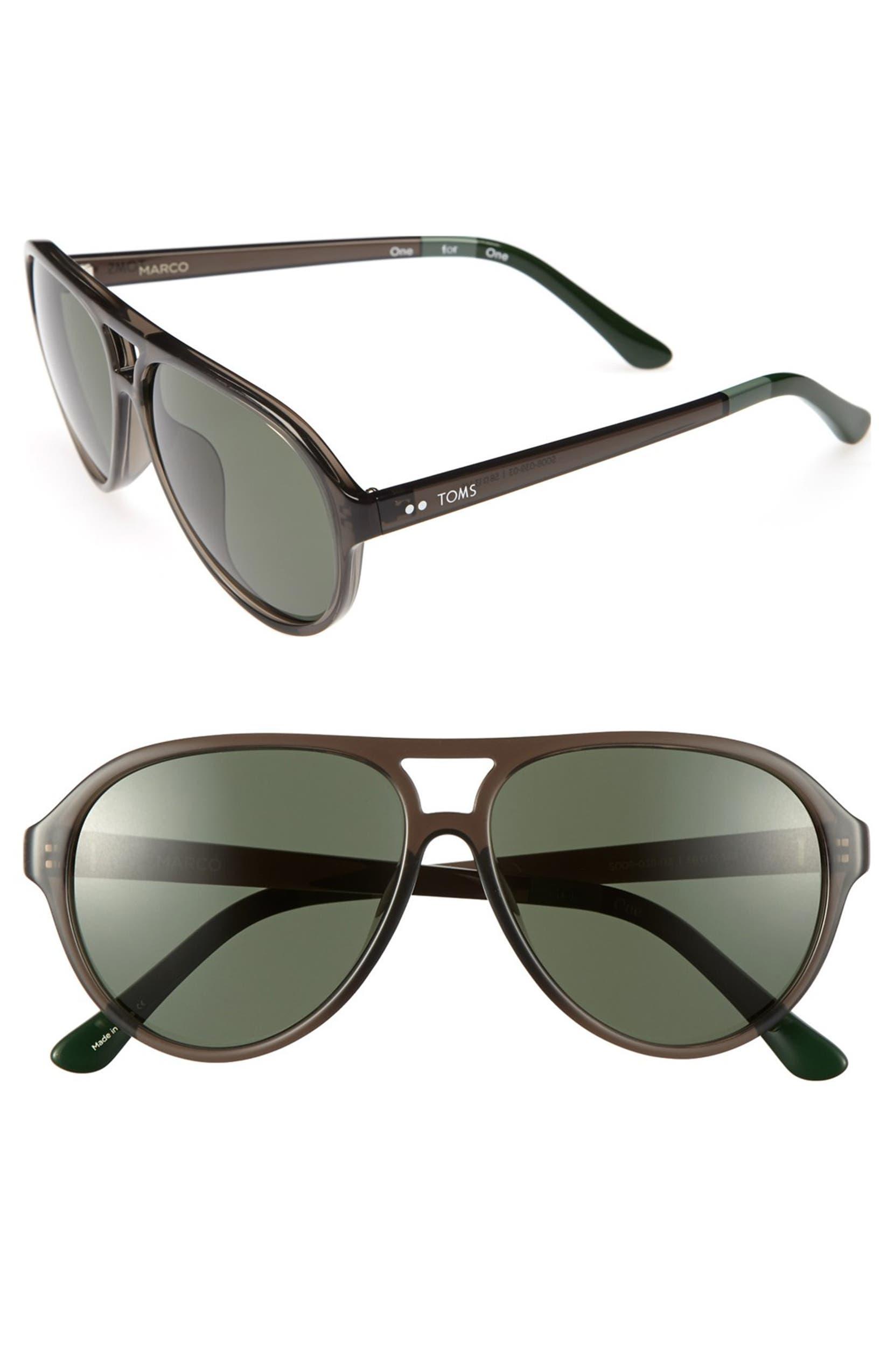 2dbc8dfd6592 TOMS 'Marco' 58mm Sunglasses | Nordstrom