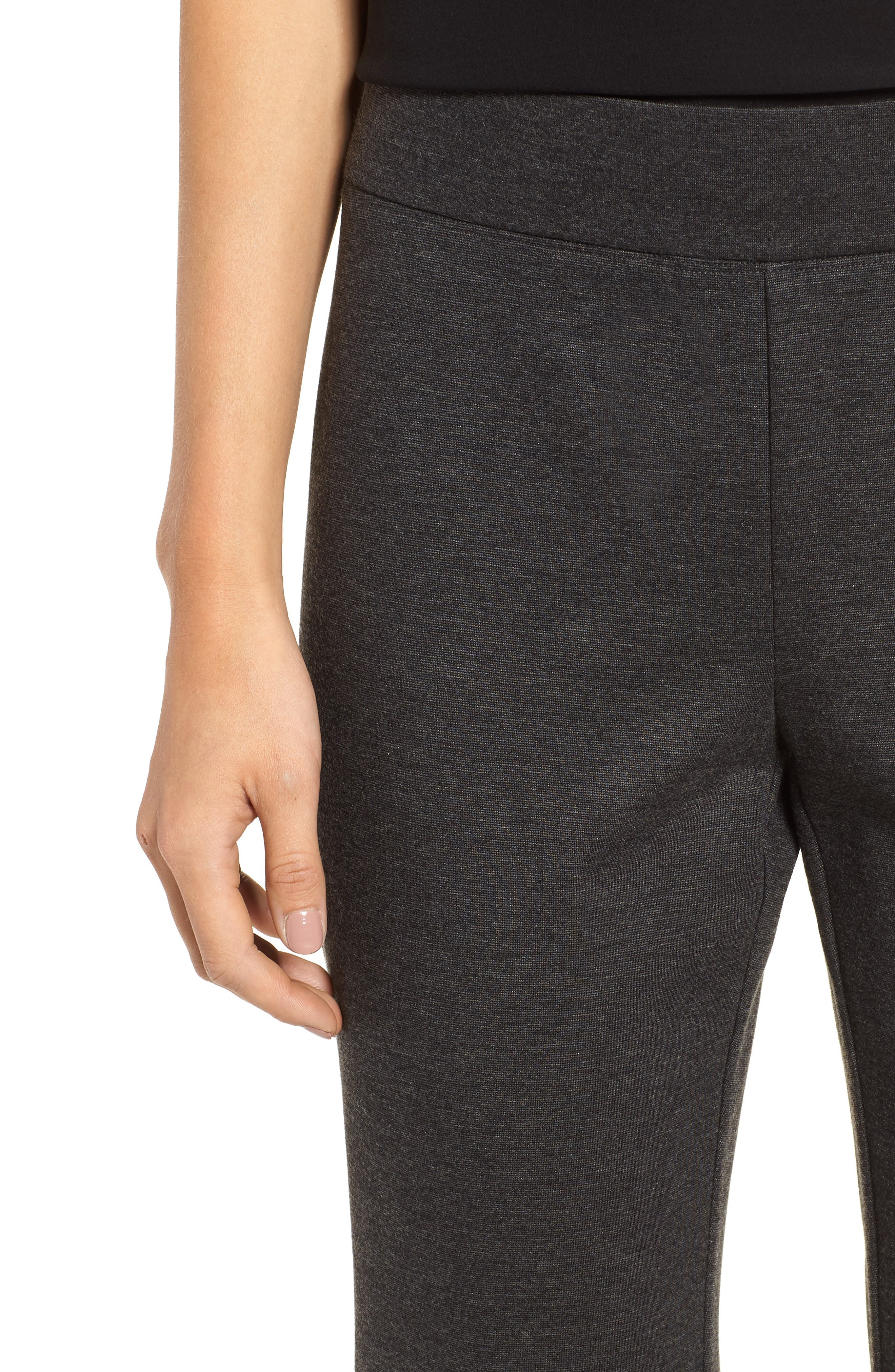 Slim Crop Pants,                             Alternate thumbnail 4, color,                             CHARCOAL