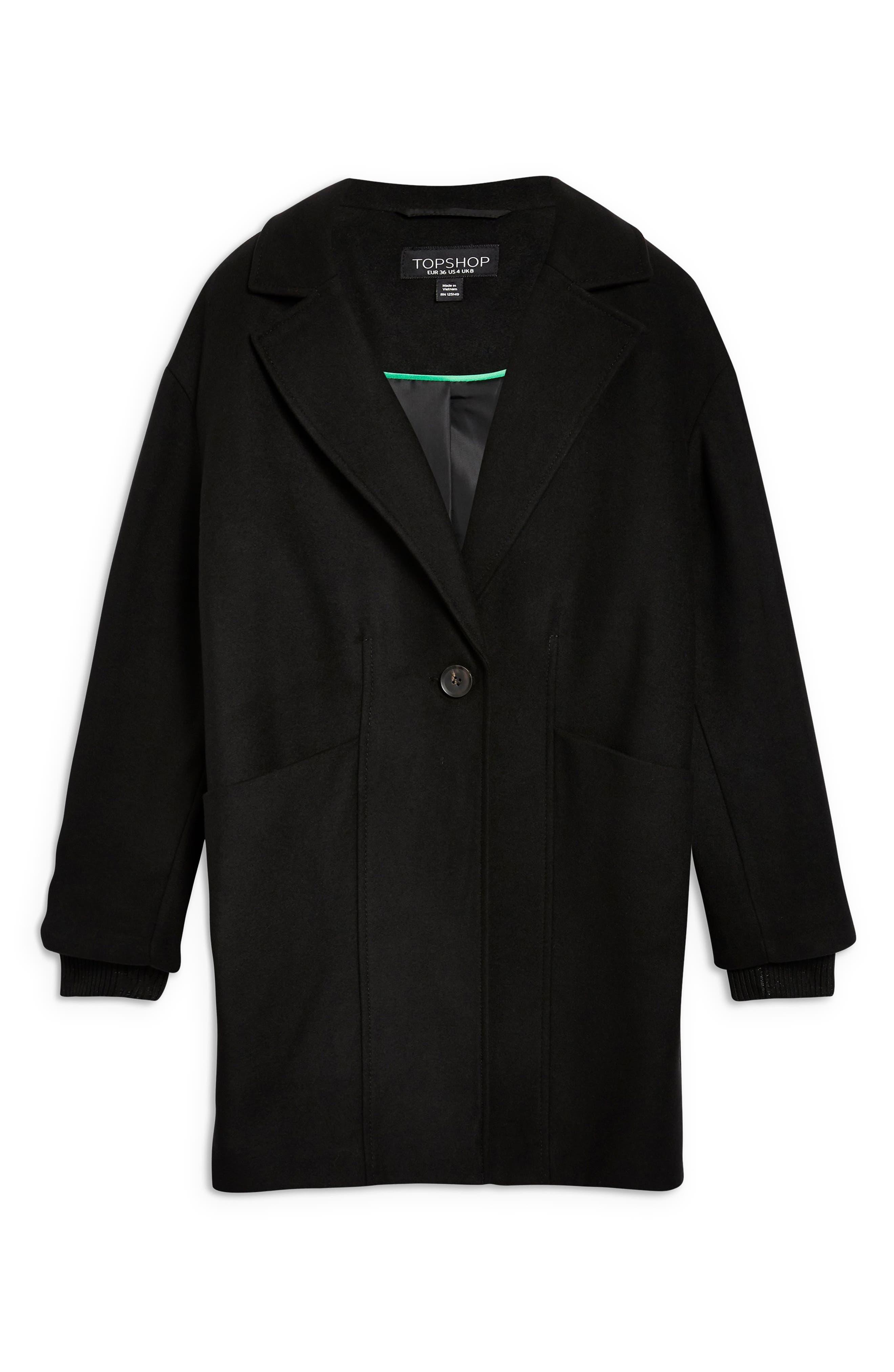 Marla Slouch Coat,                             Alternate thumbnail 4, color,                             BLACK