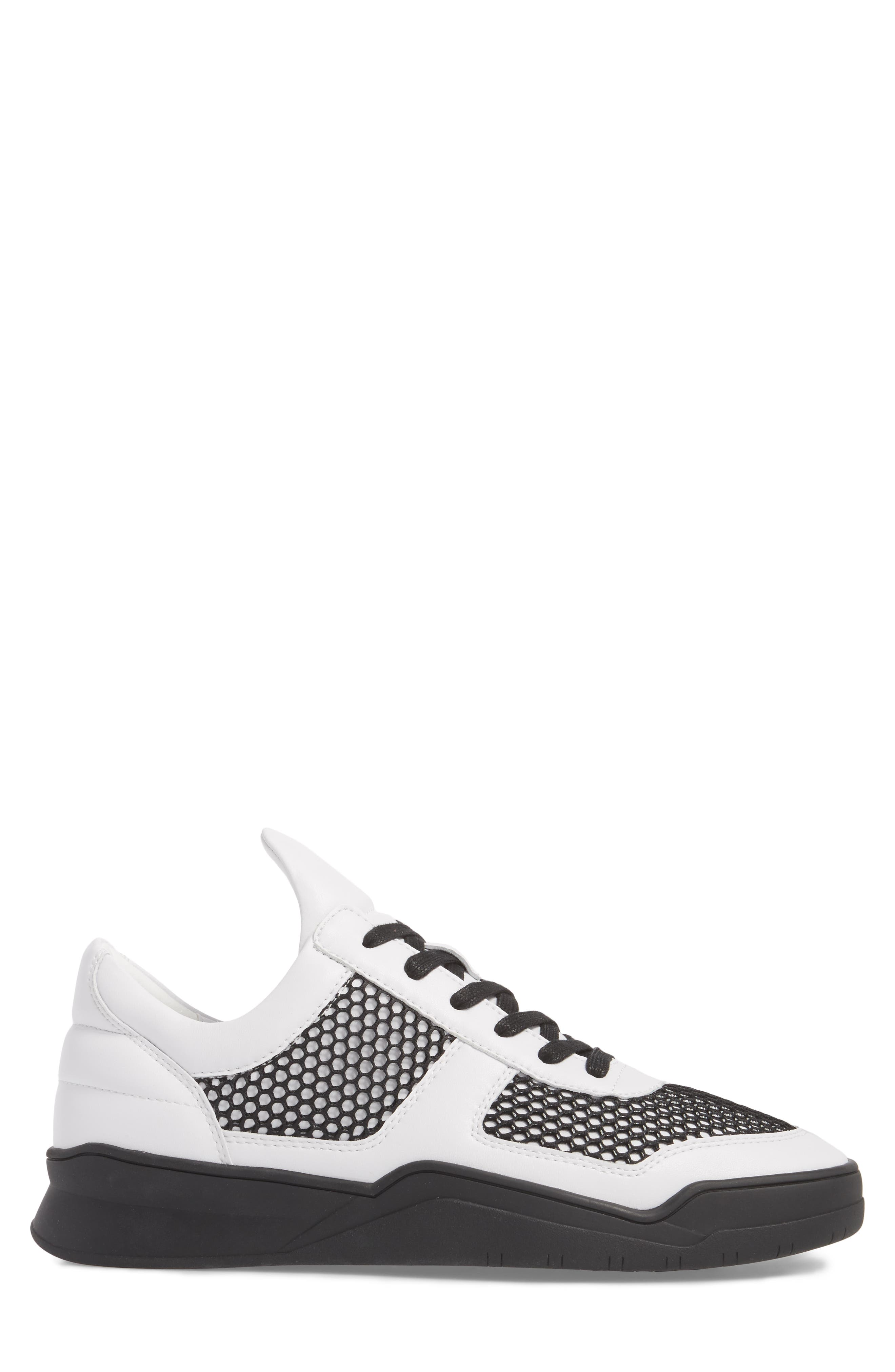 Low-Top Sneaker,                             Alternate thumbnail 3, color,                             BLACK/WHITE