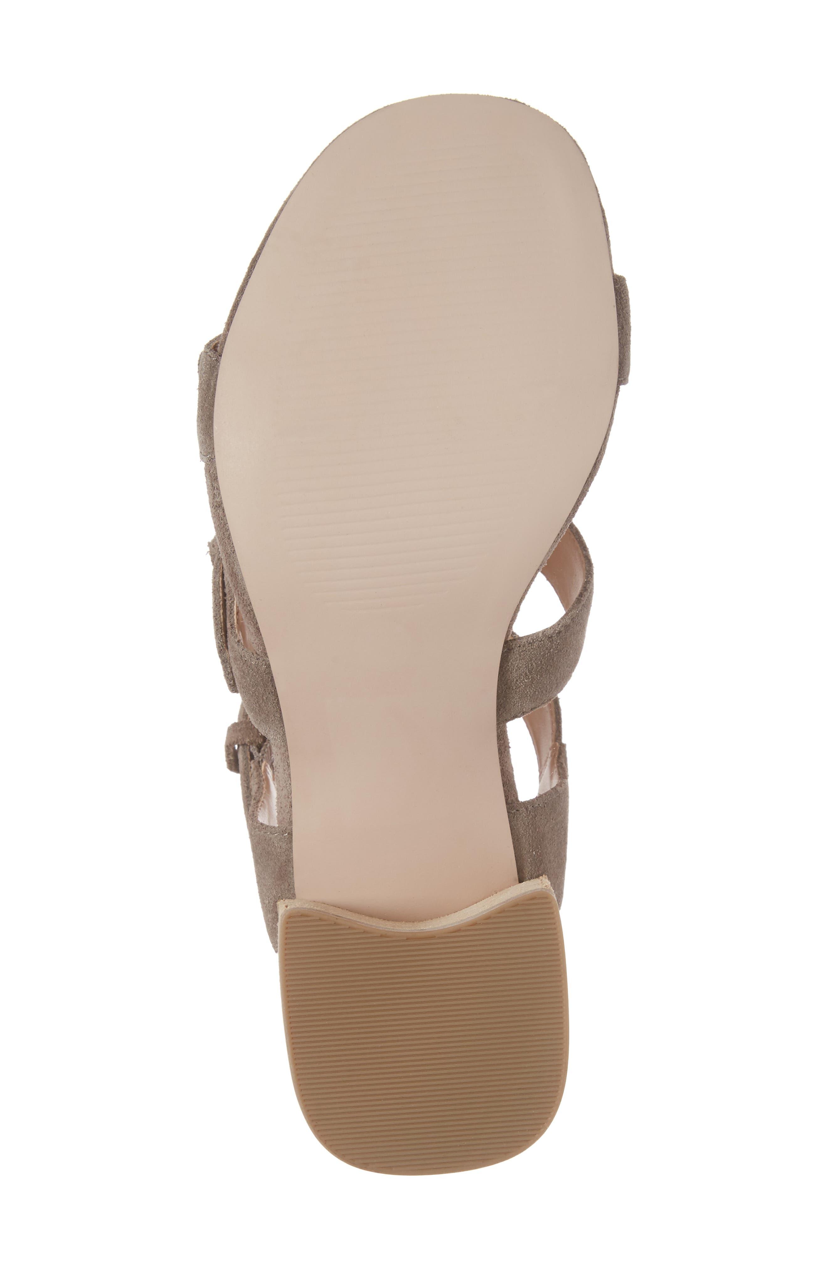 Culver Block Heel Sandal,                             Alternate thumbnail 6, color,                             MUSHROOM SUEDE
