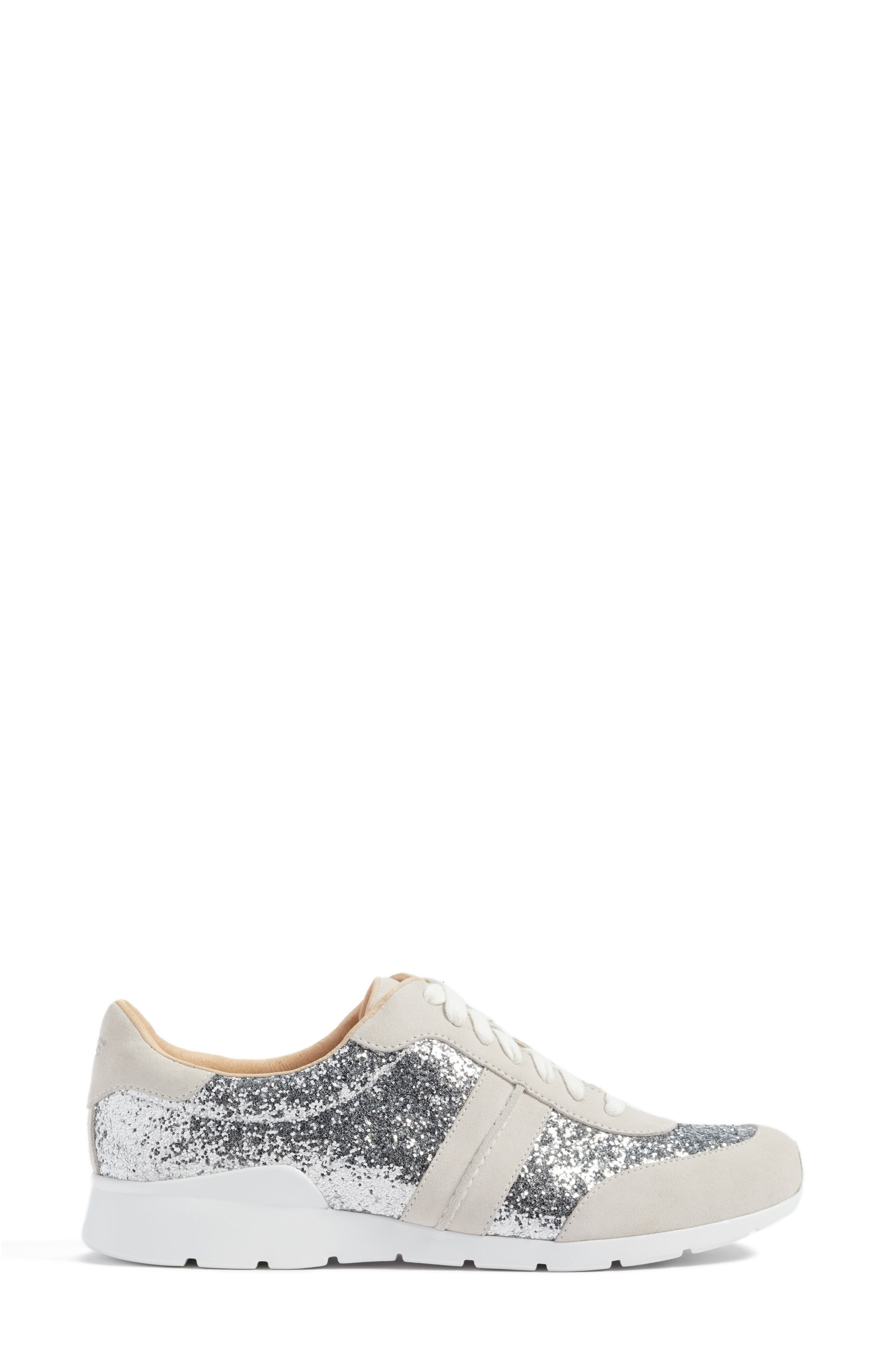Jaida Glitter Sneaker,                             Alternate thumbnail 3, color,                             040