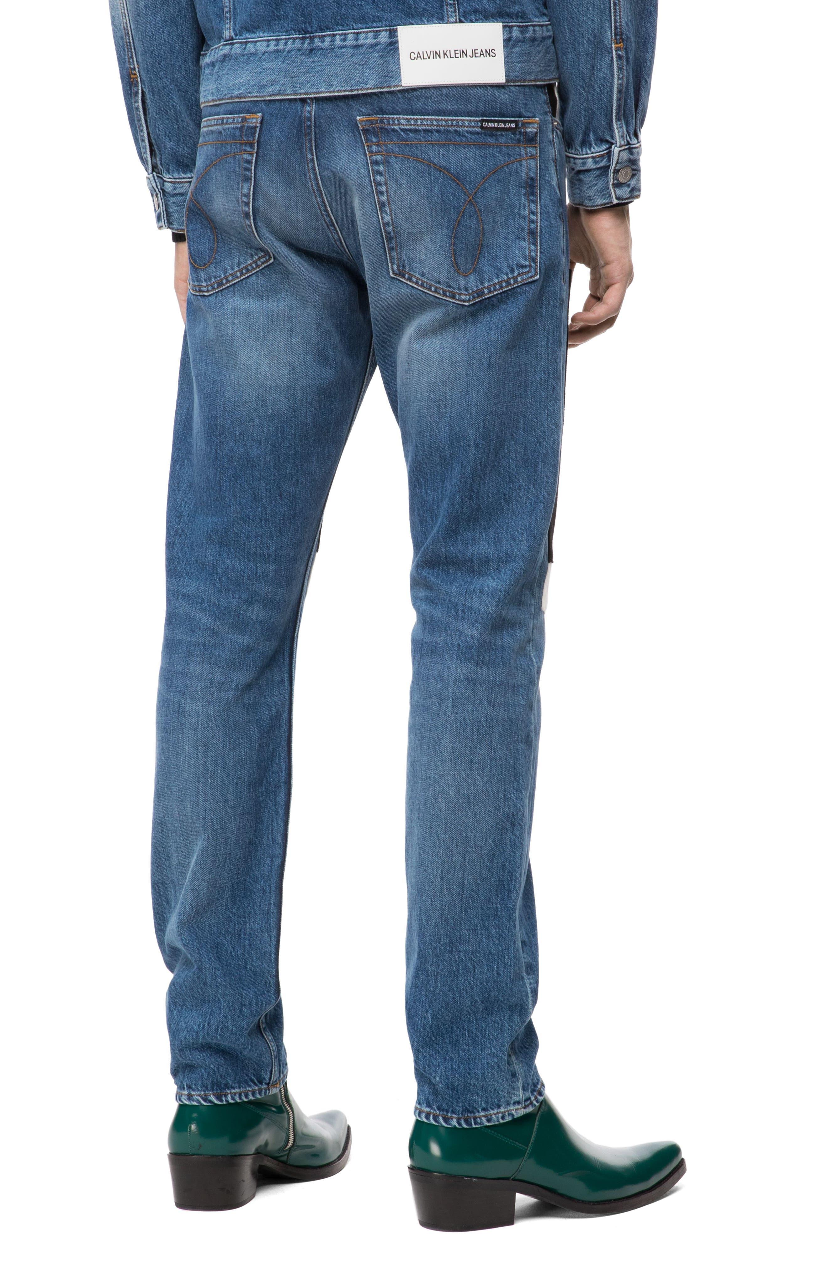 Slim Fit Colorblock Jeans,                             Alternate thumbnail 2, color,                             400