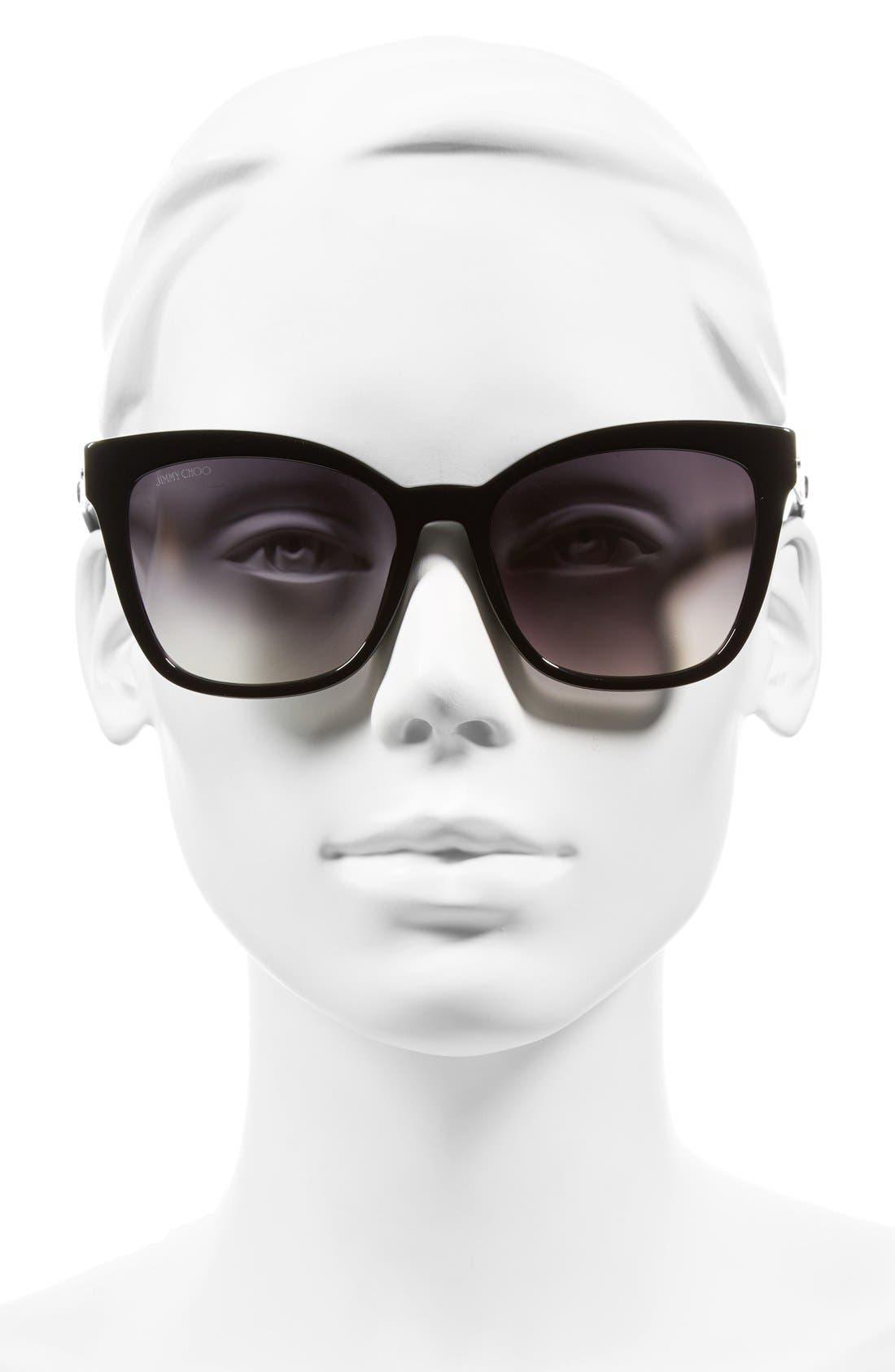 55mm Retro Sunglasses,                             Alternate thumbnail 2, color,                             001