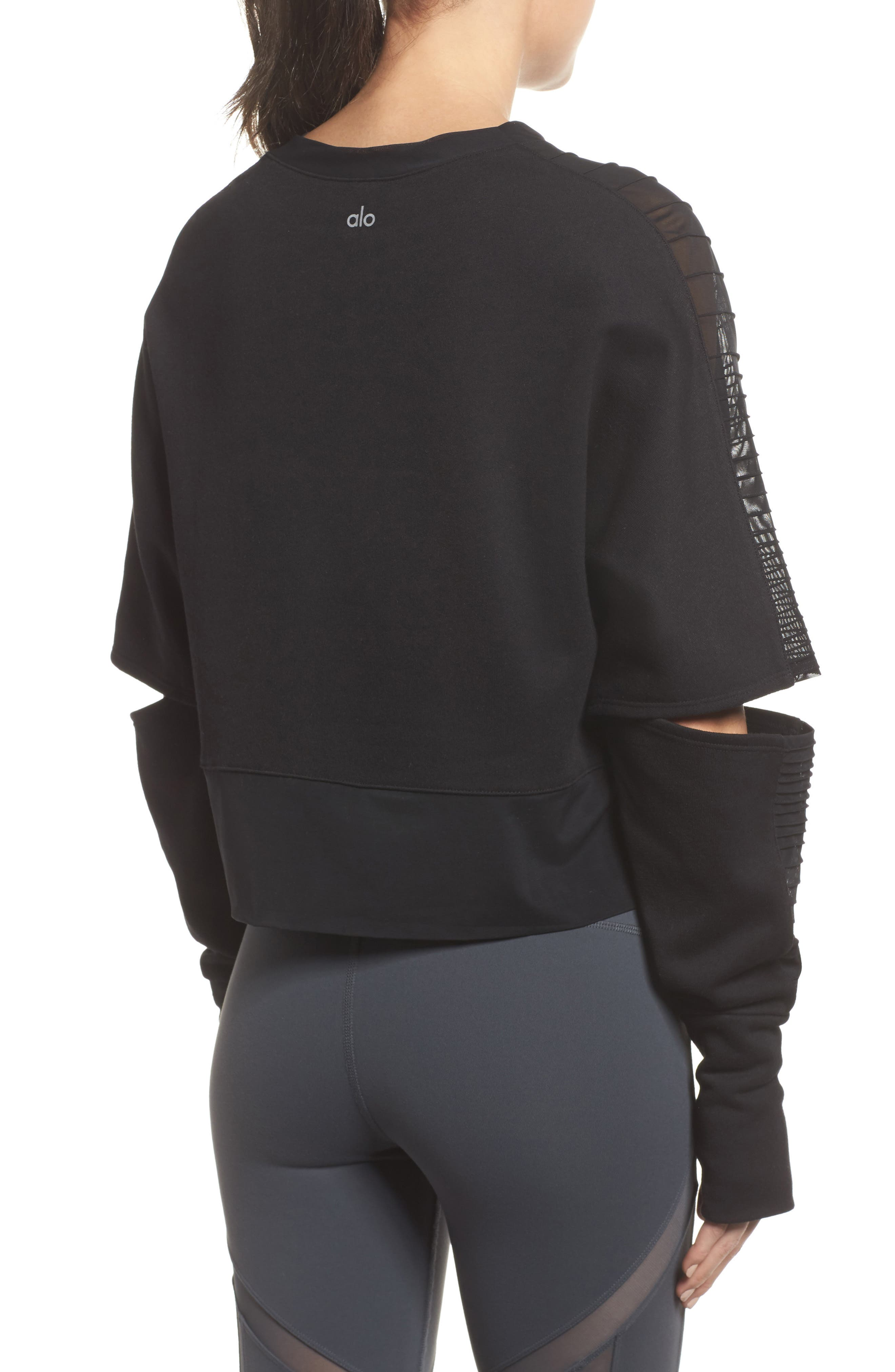 Cutout Sleeve Pullover Top,                             Alternate thumbnail 2, color,