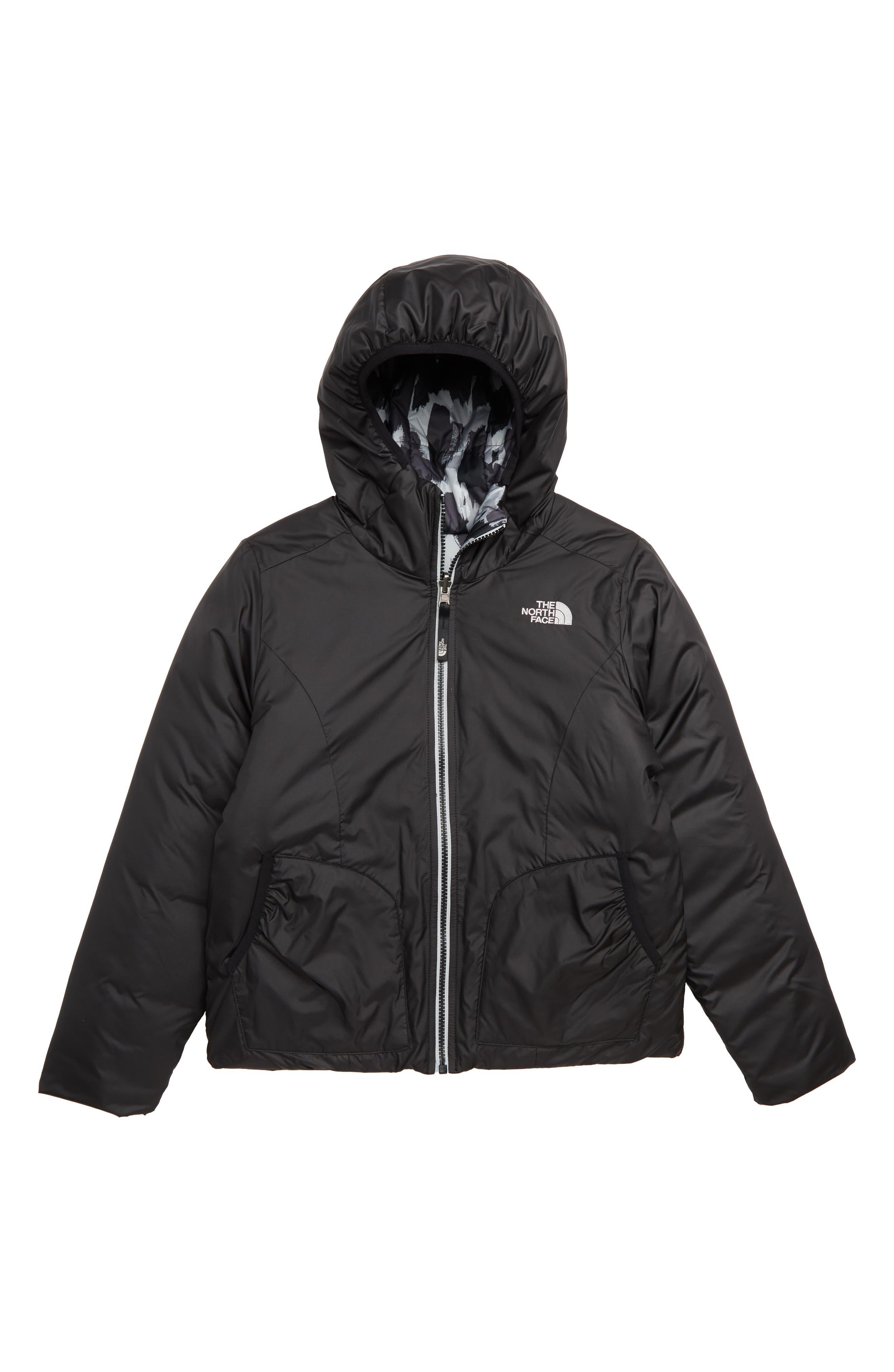 Perrito Reversible Water-Repellent Hooded Jacket,                             Main thumbnail 1, color,                             TNF BLACK