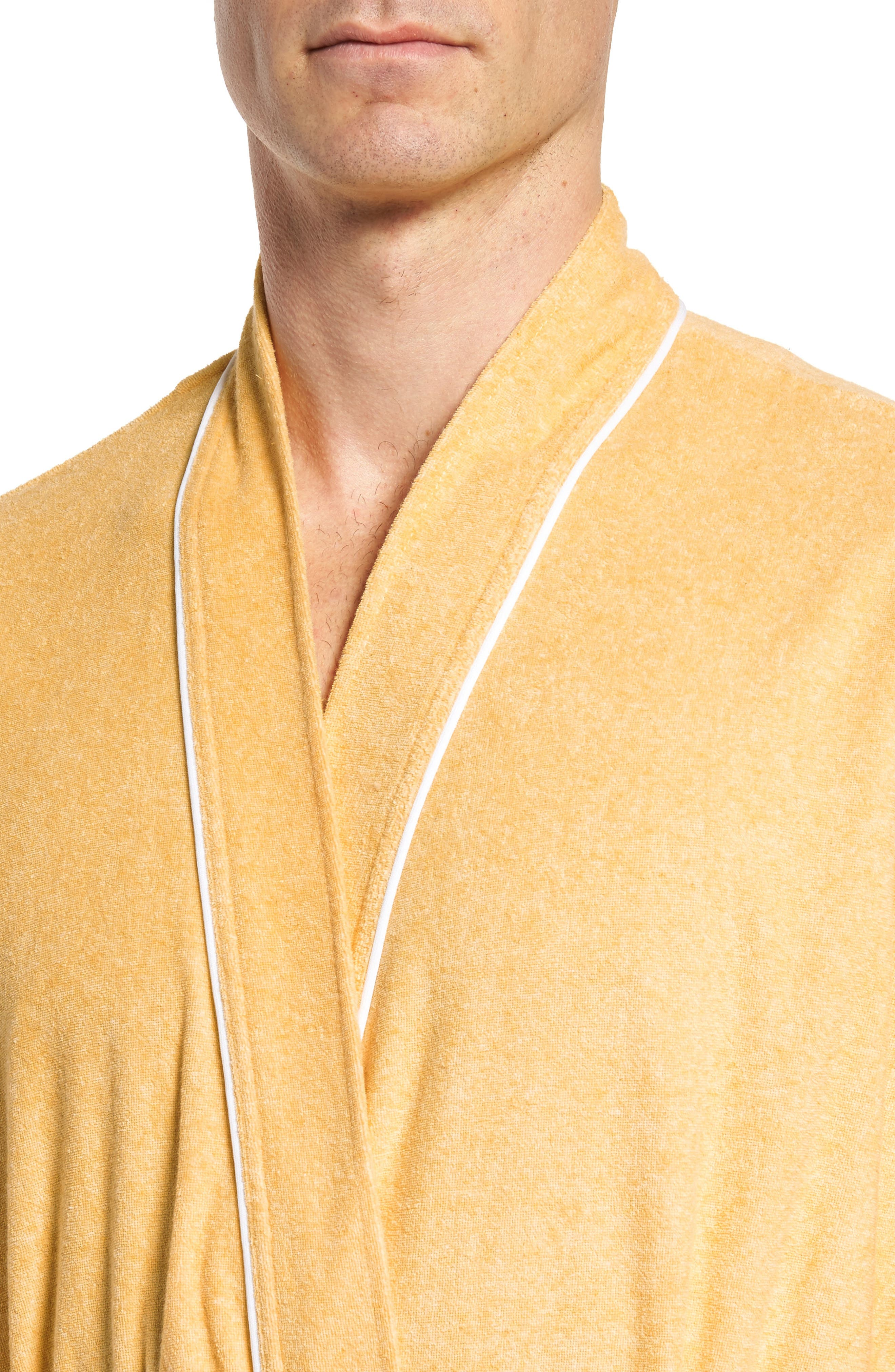 Kimono Cotton Blend Robe,                             Alternate thumbnail 7, color,