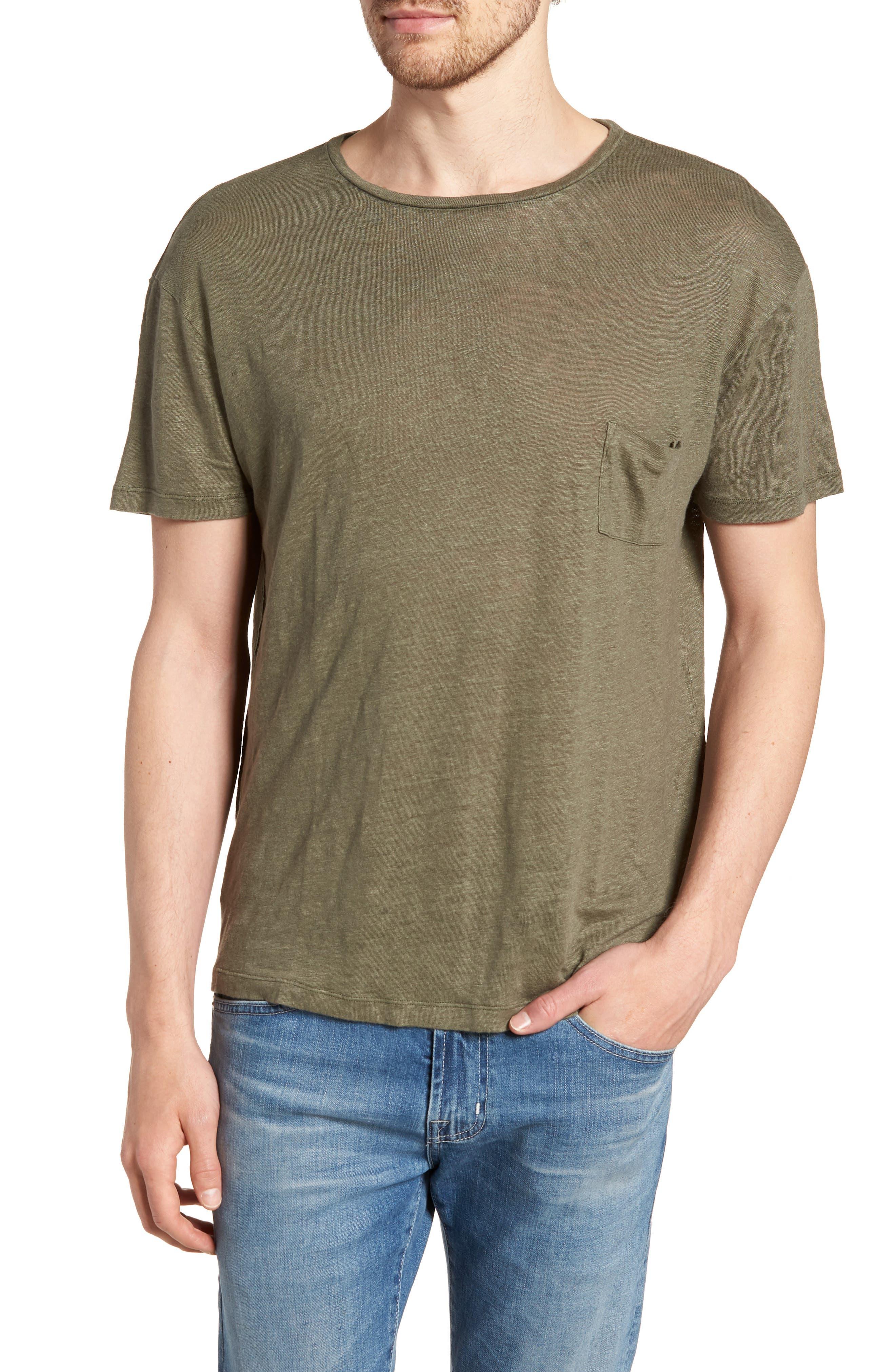 Garrett Linen T-Shirt,                             Main thumbnail 1, color,                             SAGE