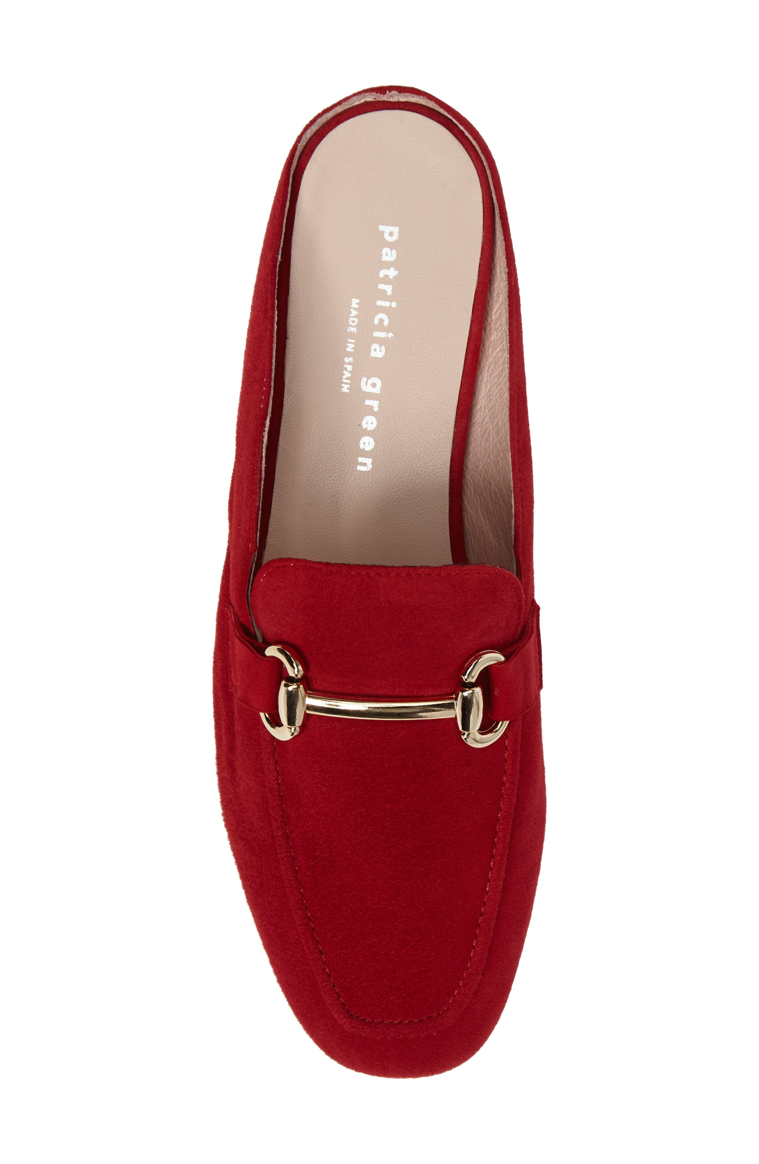 Sorrento Loafer Mule,                             Alternate thumbnail 5, color,                             RED SUEDE