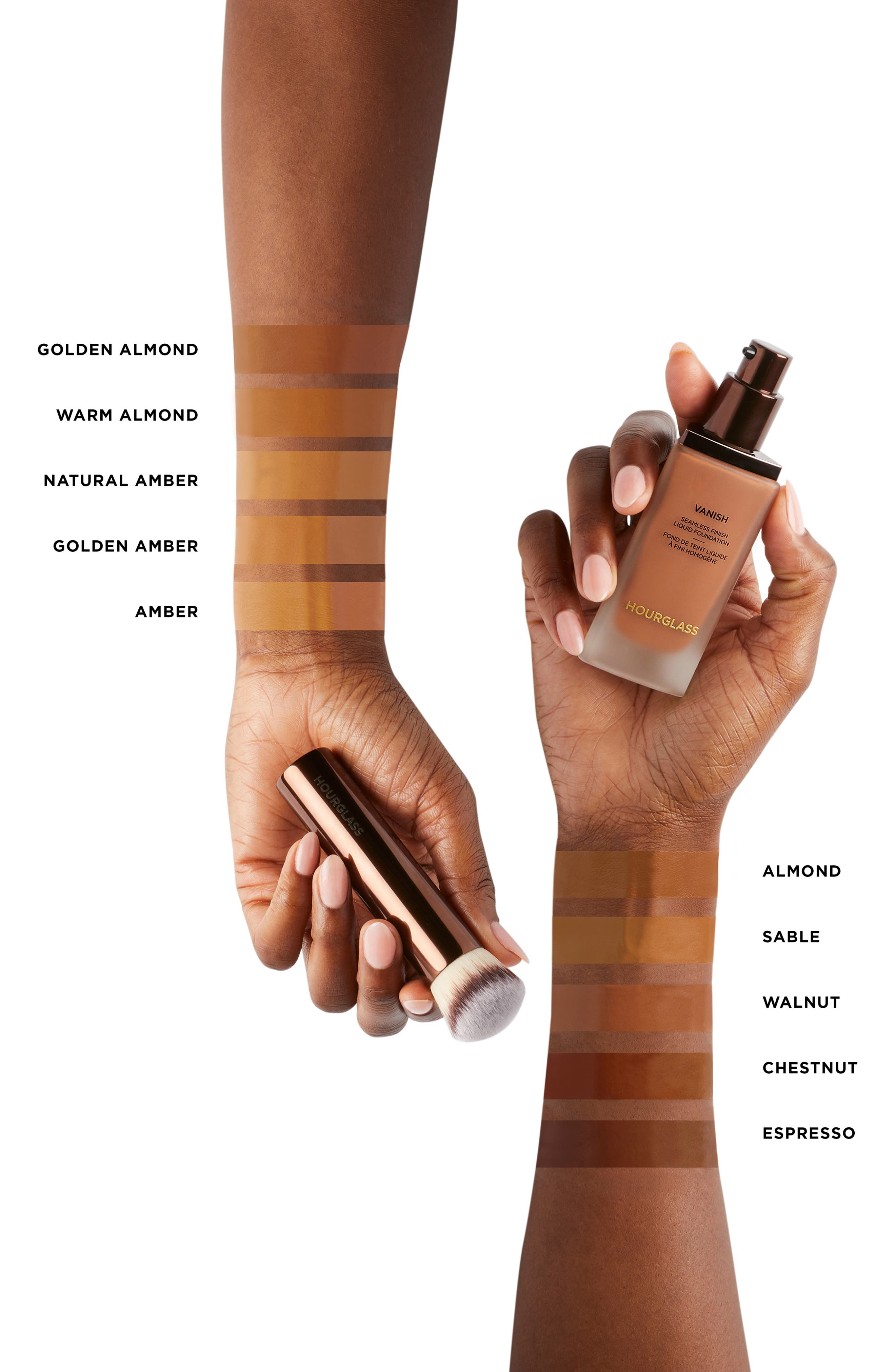 HOURGLASS,                             Vanish<sup>™</sup> Seamless Finish Liquid Foundation,                             Alternate thumbnail 5, color,                             ALMOND