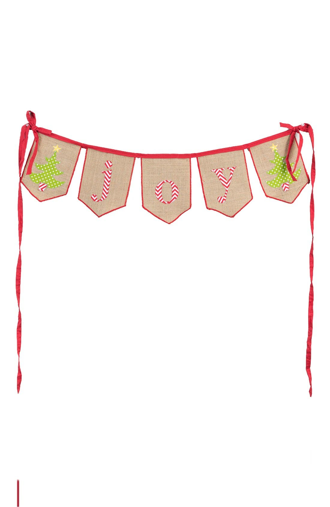 'Joy' Burlap Banner,                             Main thumbnail 1, color,