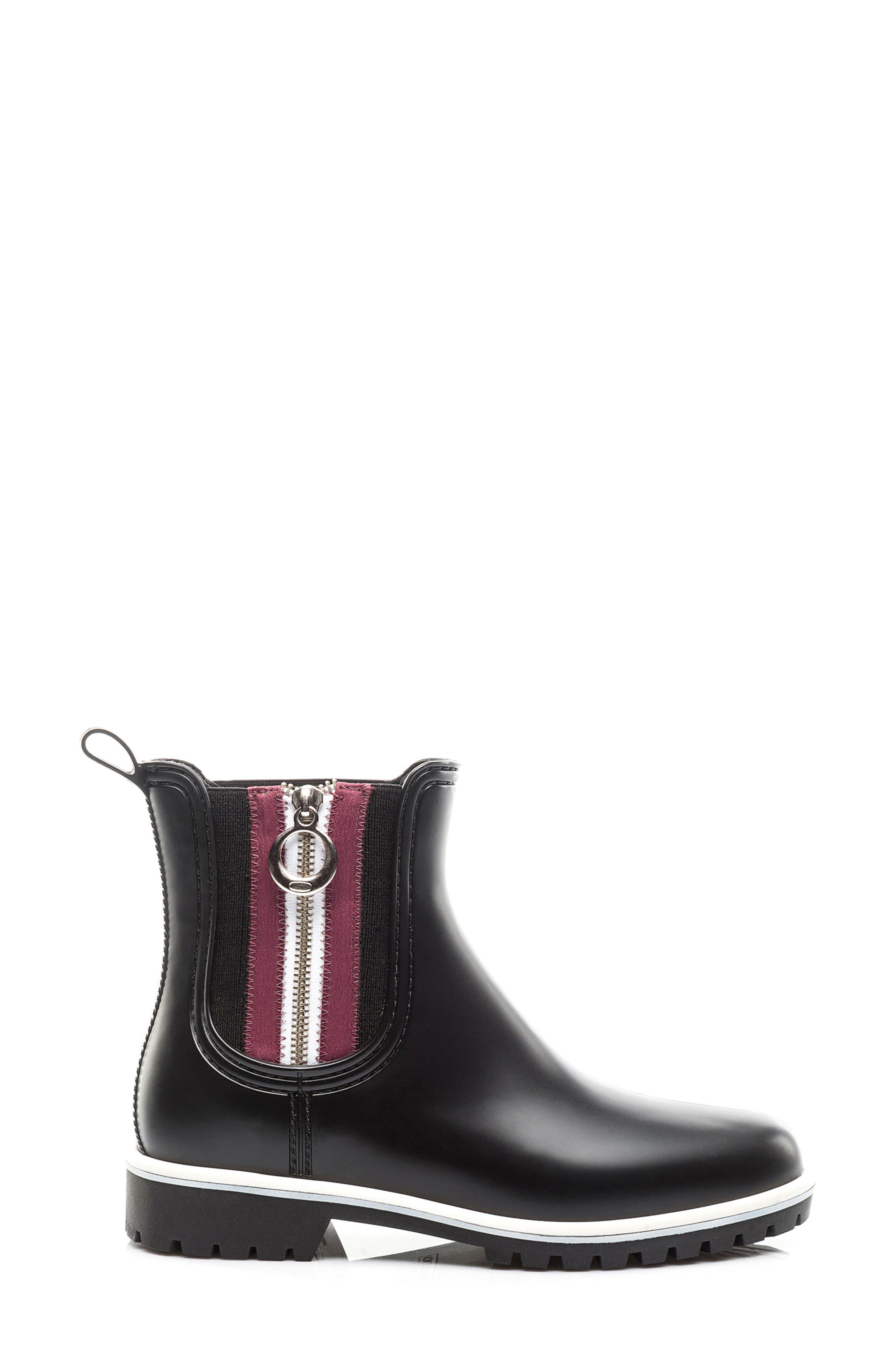 Zip Rain Boot,                             Alternate thumbnail 3, color,                             001