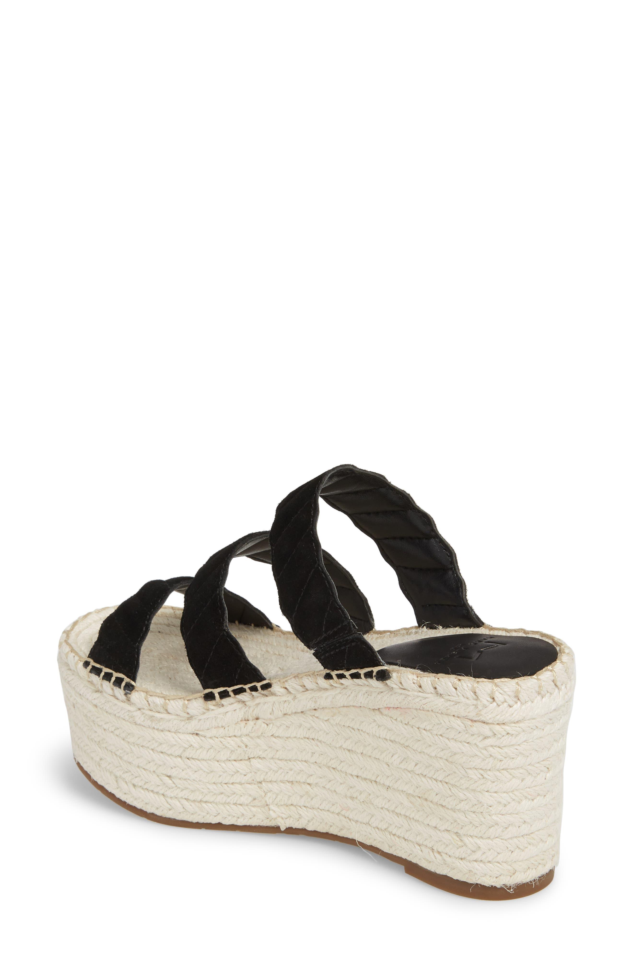Rosie Espadrille Platform Sandal,                             Alternate thumbnail 2, color,                             BLACK SUEDE
