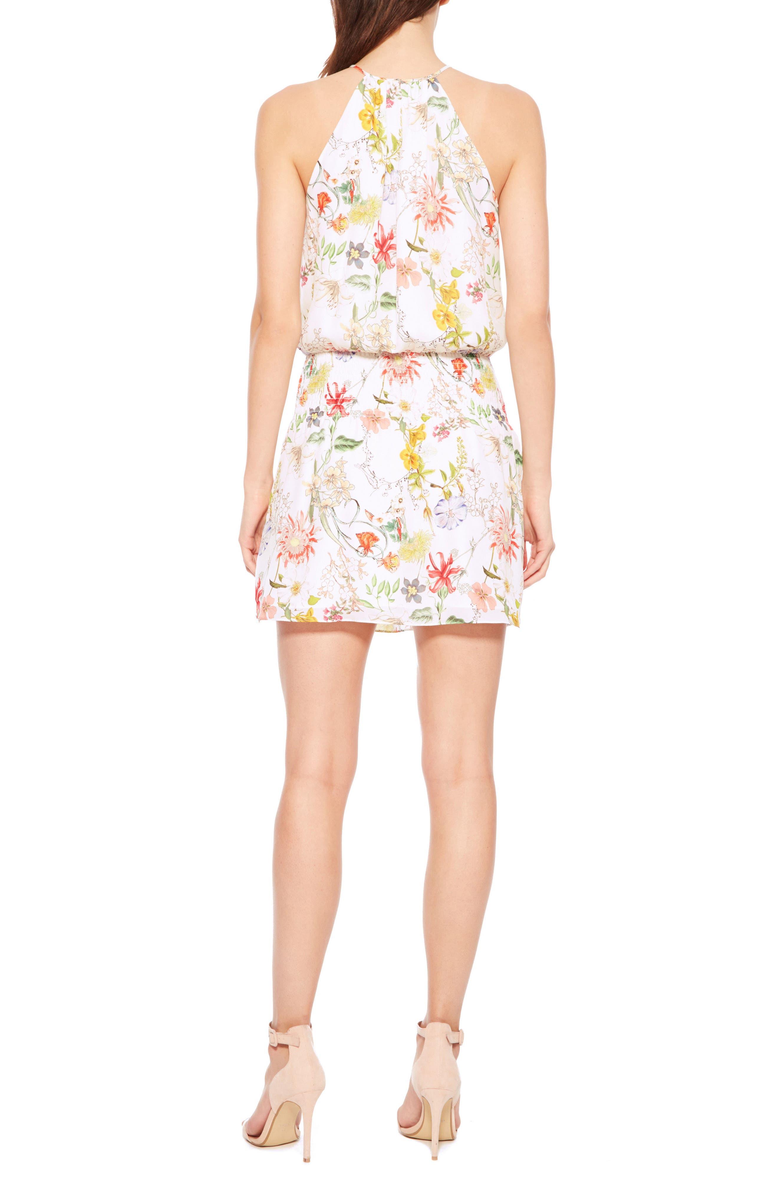 Larissa Floral Silk Dress,                             Alternate thumbnail 2, color,