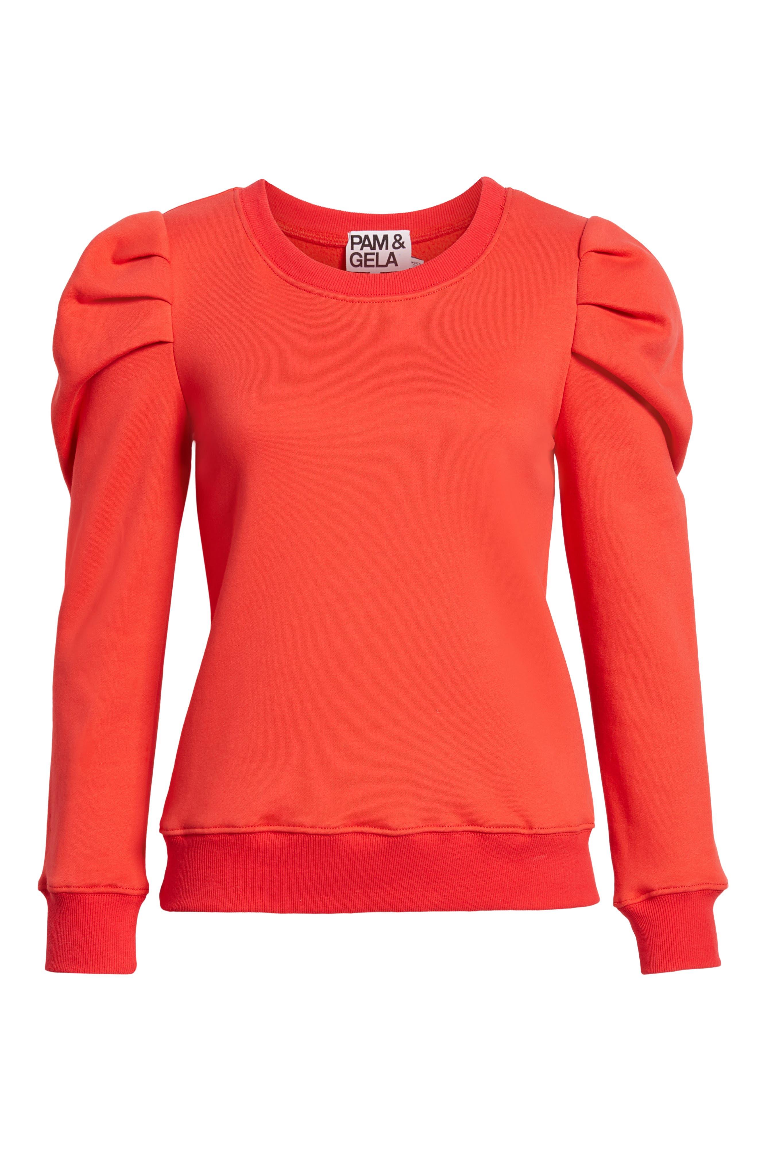 PAM & GELA,                             Puff Sleeve Sweatshirt,                             Alternate thumbnail 6, color,                             600