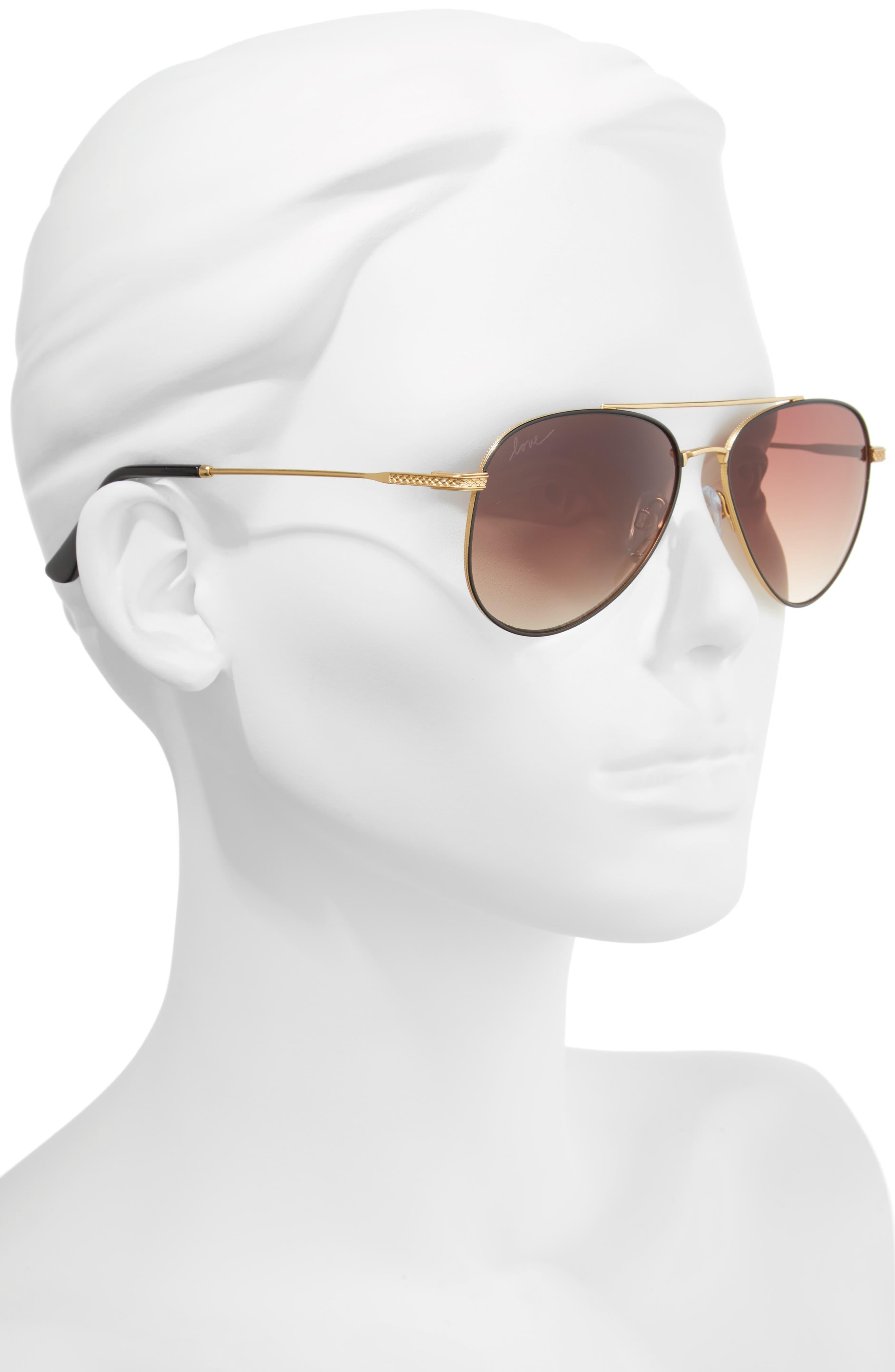 58mm Aviator Sunglasses,                             Alternate thumbnail 6, color,