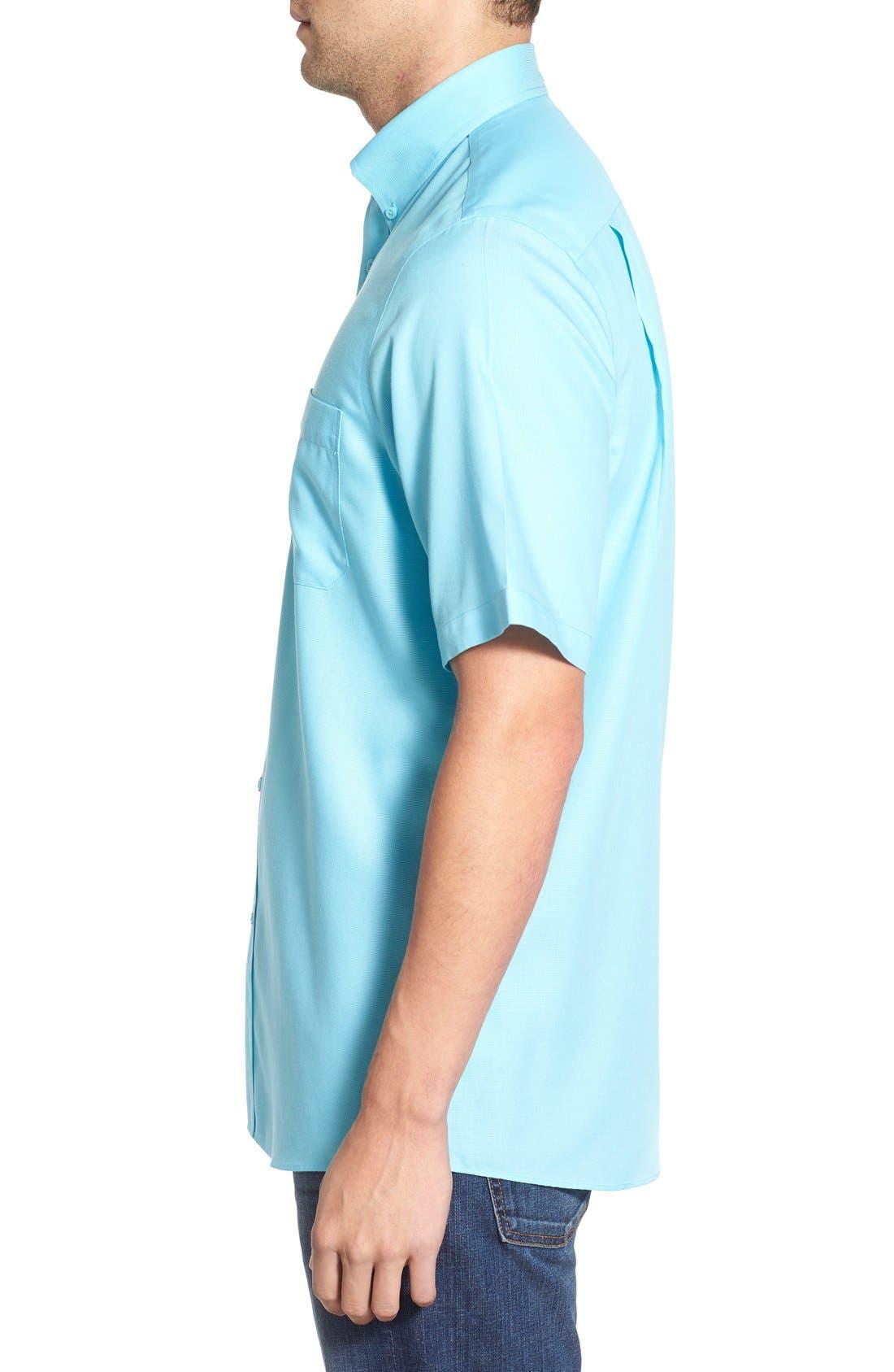 'Classic' Smartcare<sup>™</sup> Regular Fit Short Sleeve Cotton Sport Shirt,                             Alternate thumbnail 55, color,