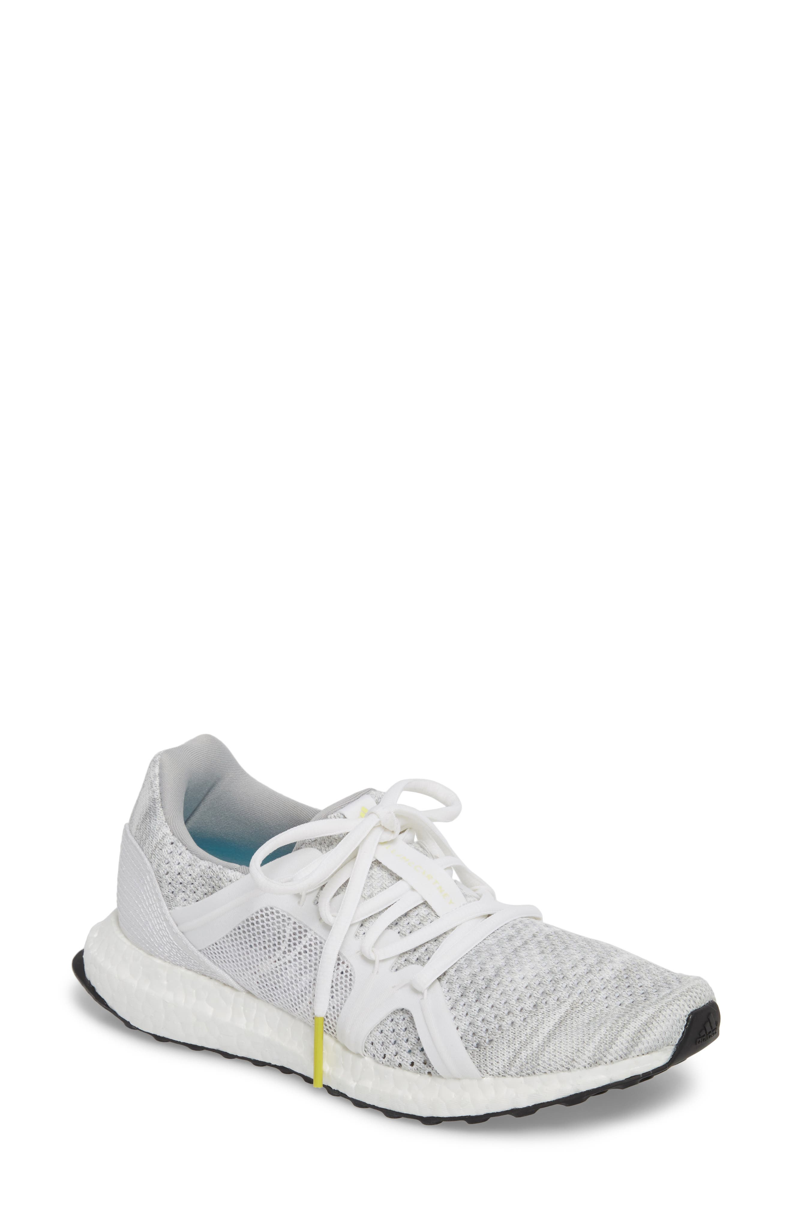 by Stella McCartney UltraBoost x Parley Running Shoe,                         Main,                         color, STONE/ CORE WHITE/ MIRROR BLUE