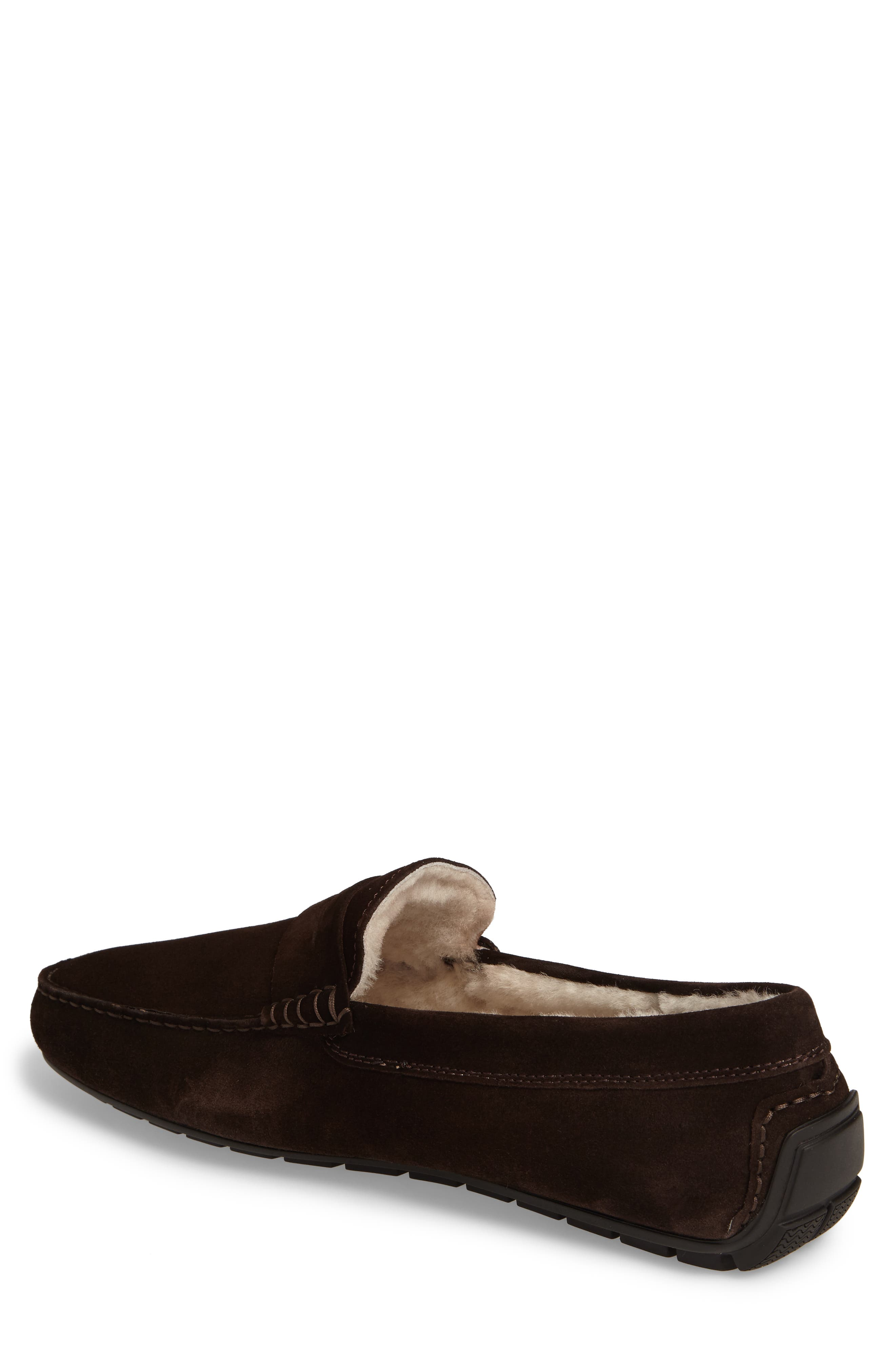 Norse Penny Loafer with Genuine Shearling,                             Alternate thumbnail 4, color,
