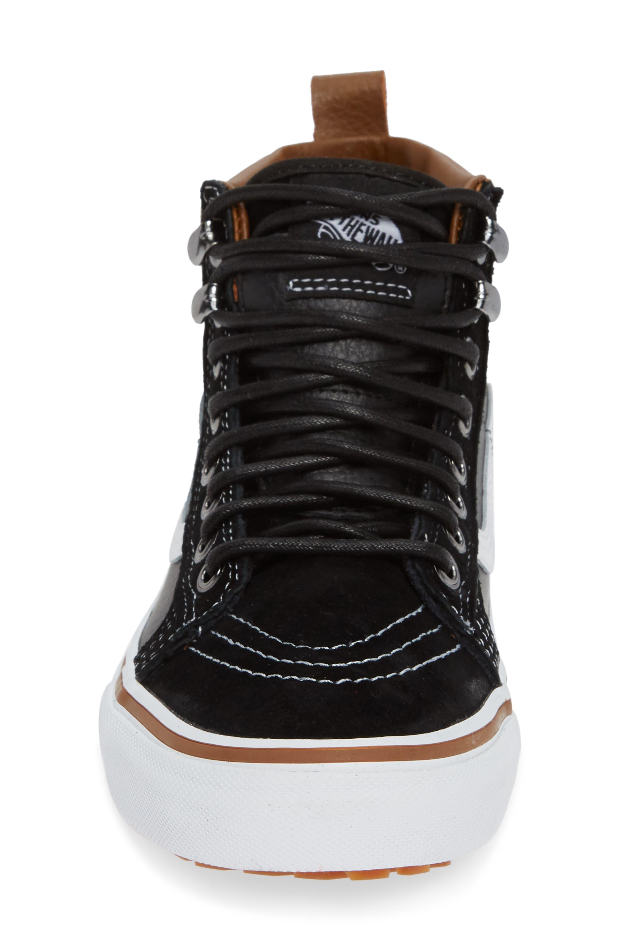 Sk-8 Hi MTE Sneaker,                             Alternate thumbnail 4, color,                             LEATHER/ BLACK/ TRUE WHITE