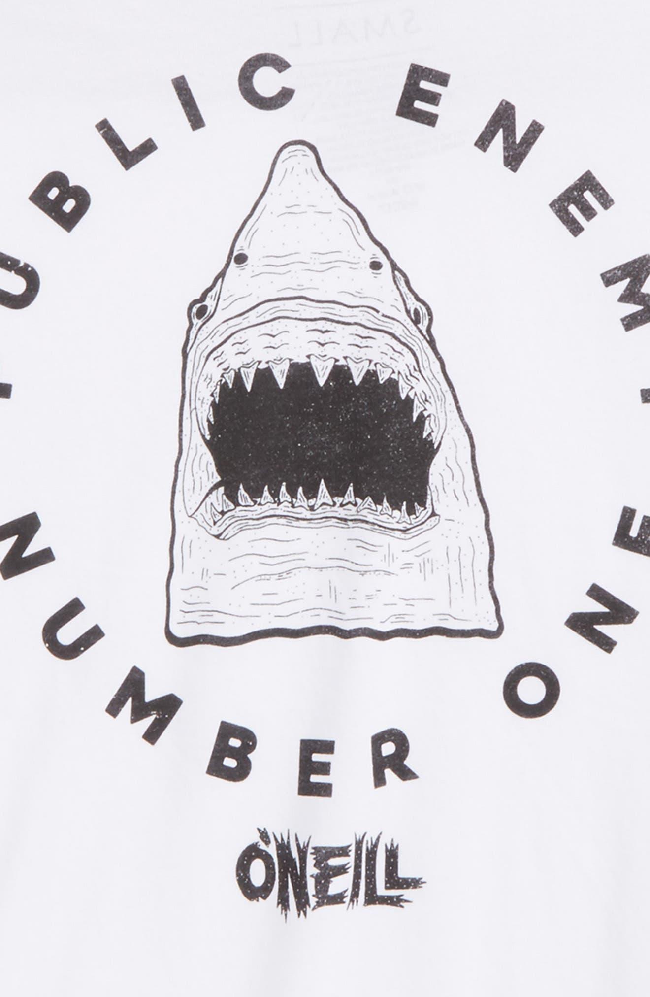 Enemy Logo Graphic T-Shirt,                             Alternate thumbnail 3, color,                             100