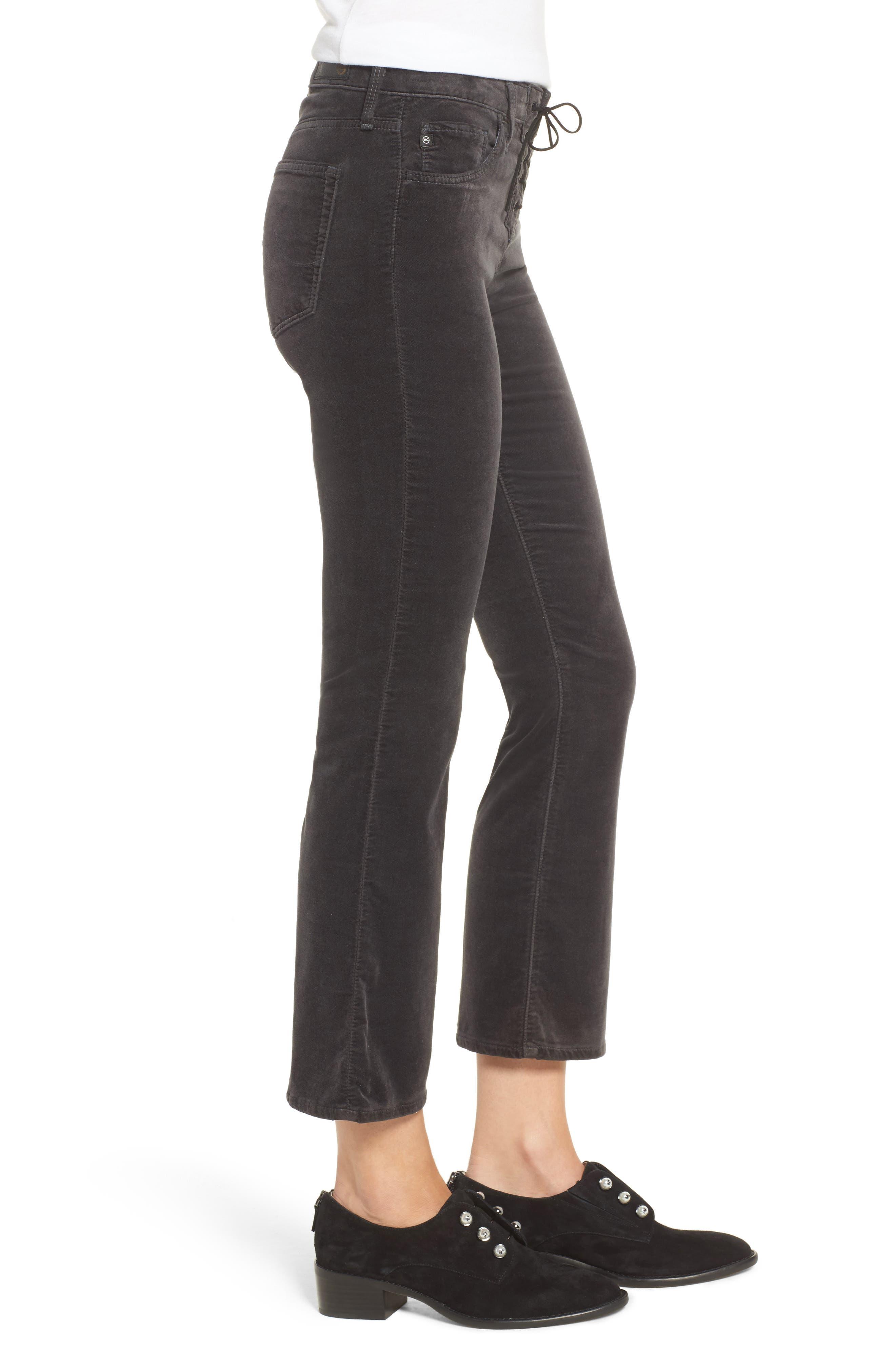 Jodi Lace-Up Crop Jeans,                             Alternate thumbnail 3, color,                             003