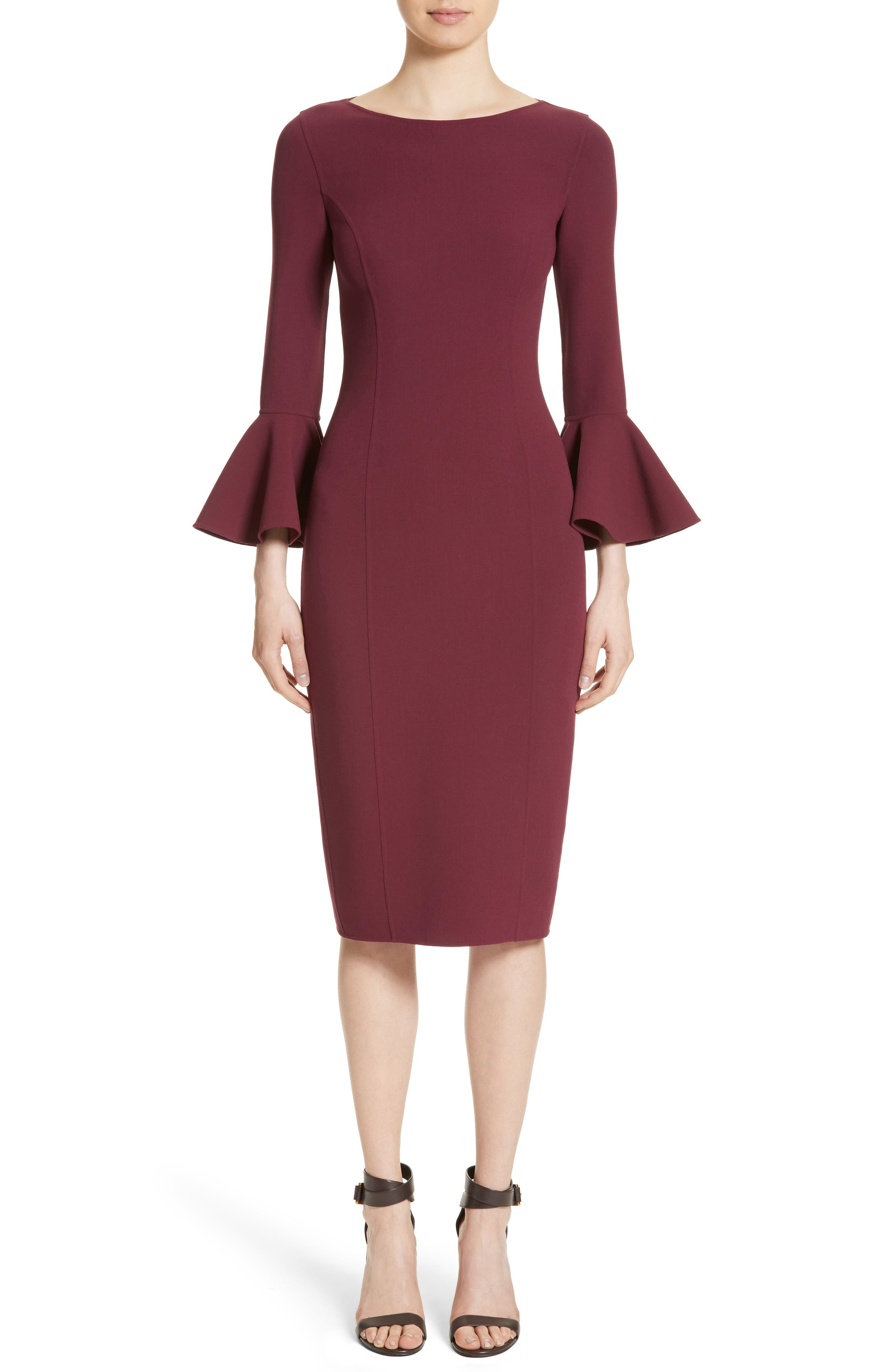 Bell Cuff Sheath Dress,                         Main,                         color, 608