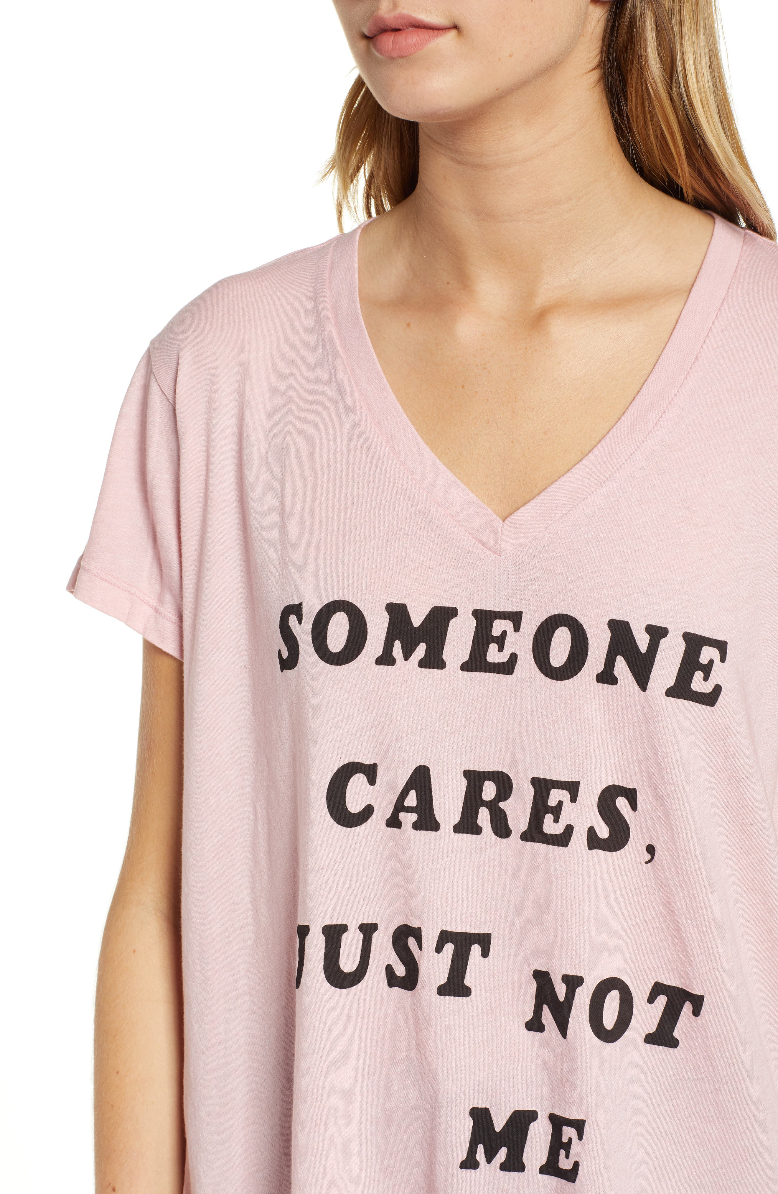 Romeo - Just Not Me V-Neck Tee,                             Alternate thumbnail 4, color,                             TAUPE ROSE