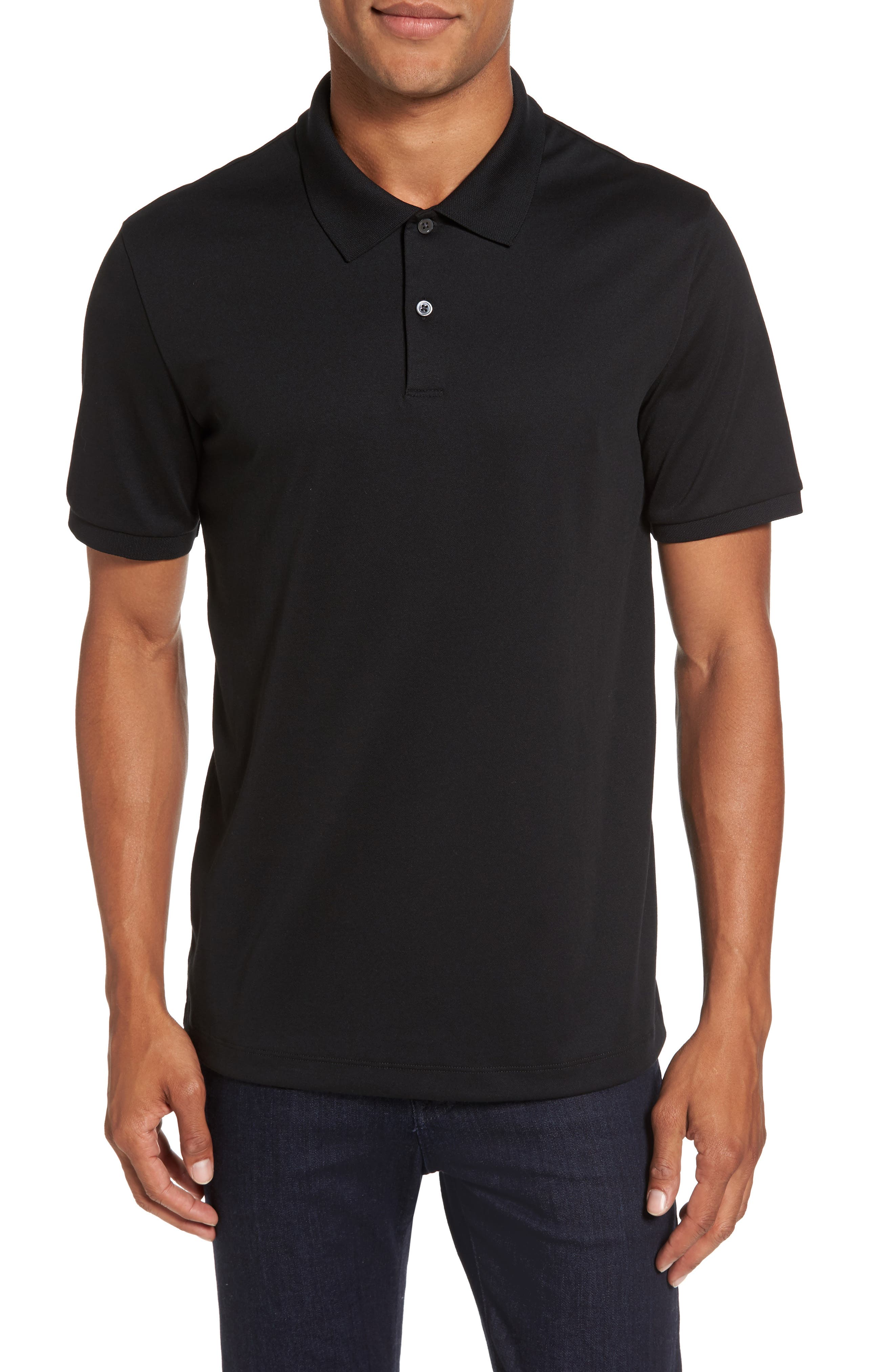 Current Tipped Piqué Polo,                         Main,                         color, 001