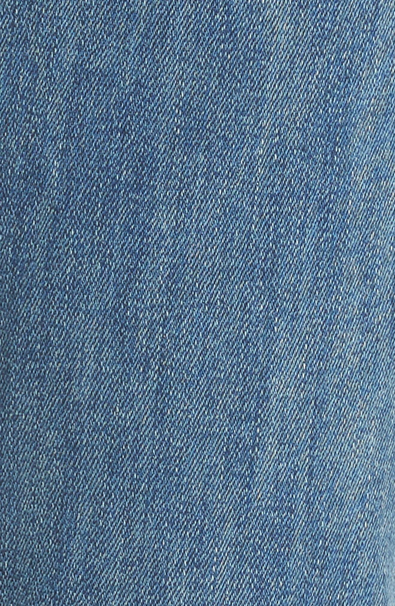 The Stunner Frayed Ankle Skinny Jeans,                             Alternate thumbnail 6, color,                             GRAFITTI GIRL