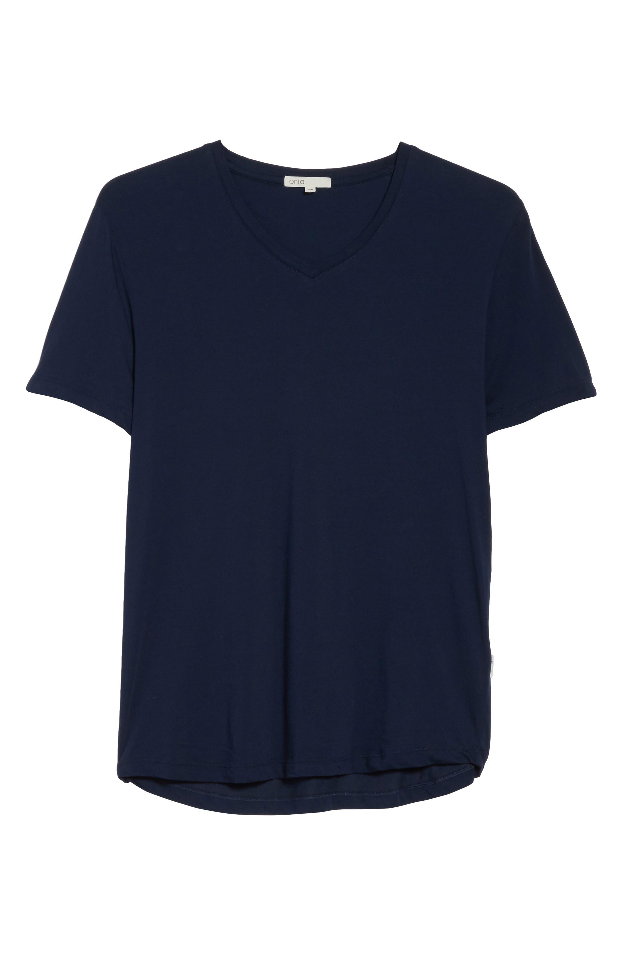 Joey V-Neck T-shirt,                             Alternate thumbnail 6, color,                             419
