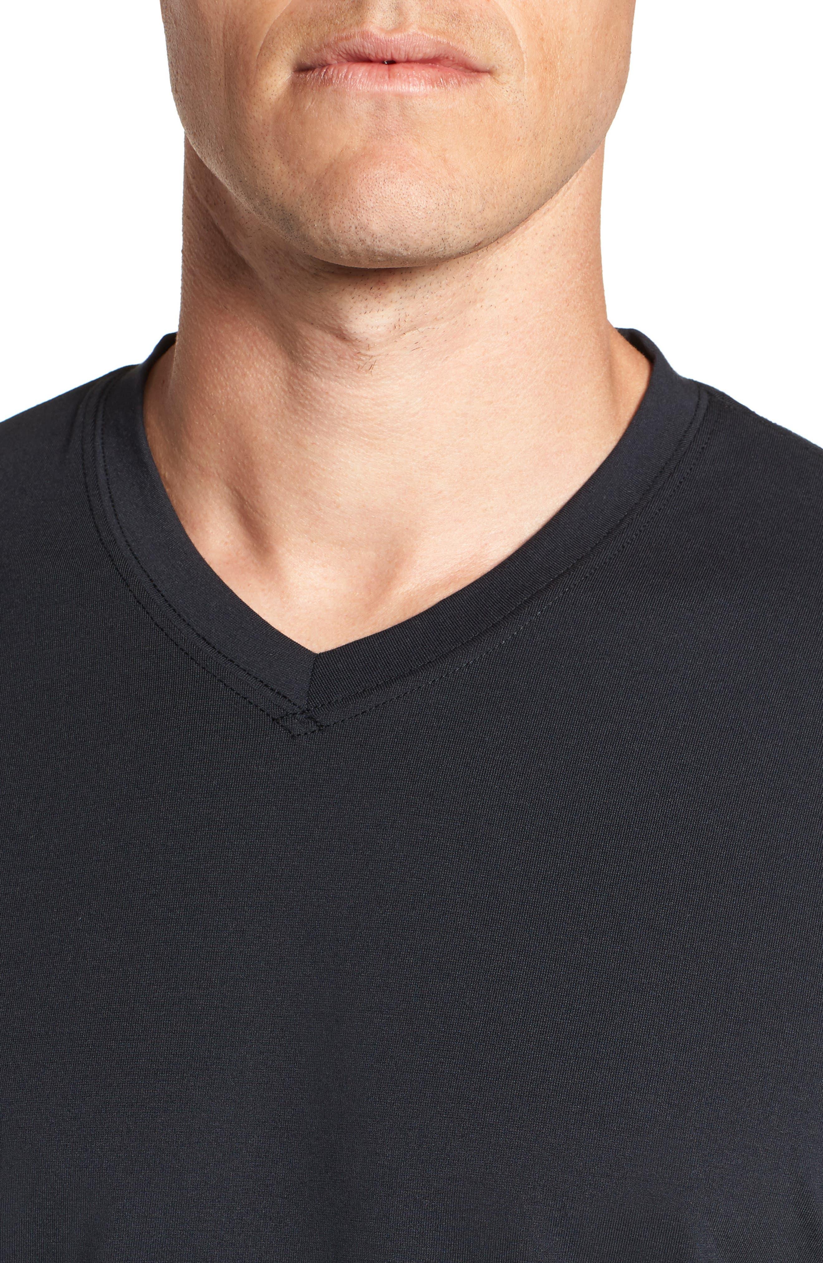 Potholder V-Neck T-Shirt,                             Alternate thumbnail 4, color,                             BLACK