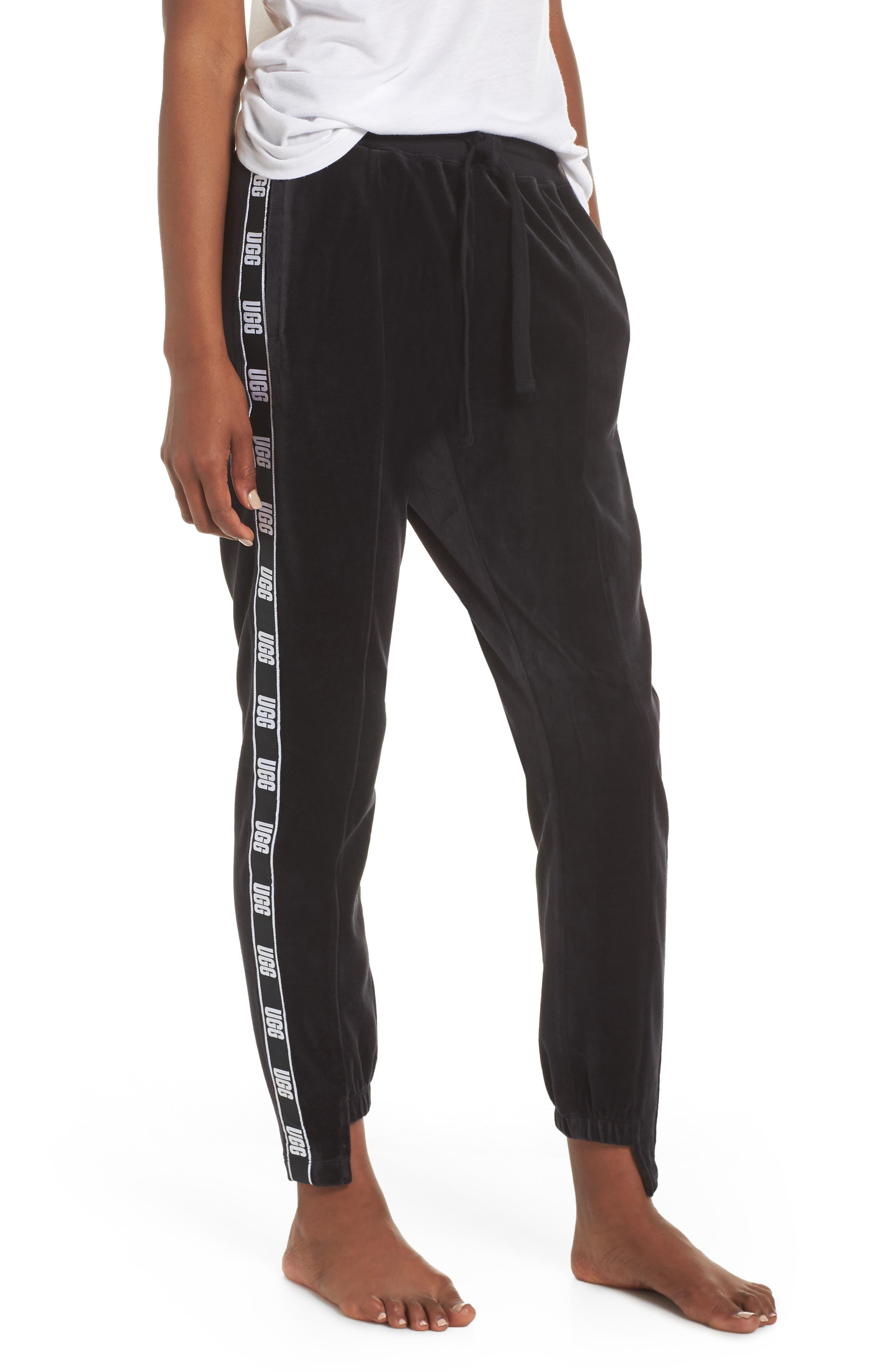 Iris Track Pants,                             Main thumbnail 1, color,                             BLACK