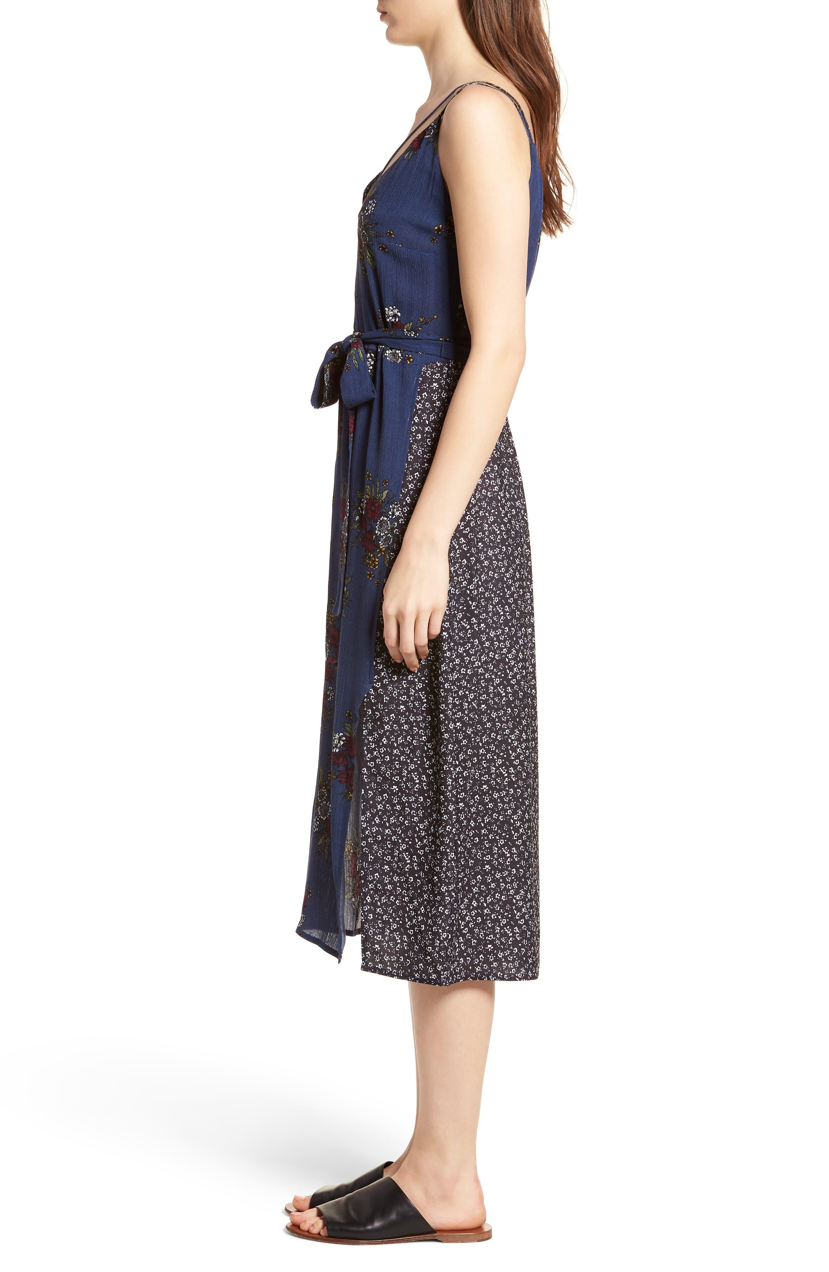 See Me Print Midi Dress,                             Alternate thumbnail 3, color,                             400