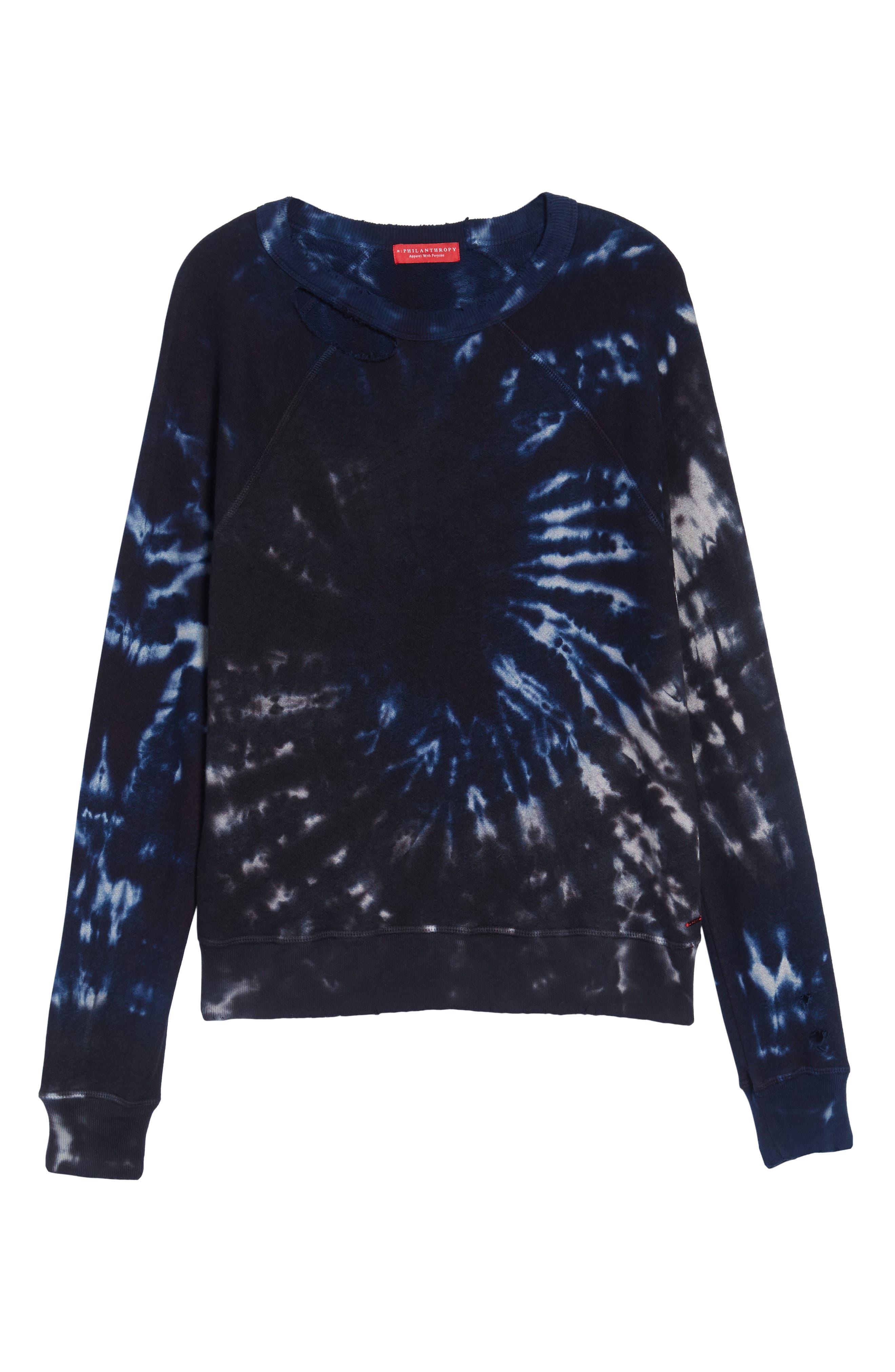 Nic Distressed Sweatshirt,                             Alternate thumbnail 6, color,                             010