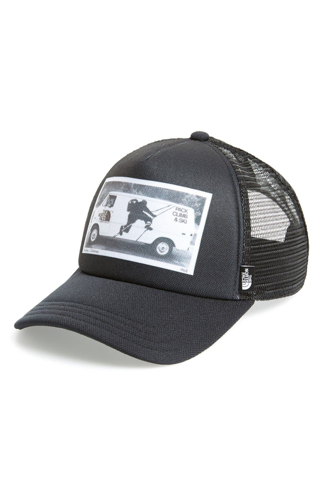 'Photobomb' Trucker Hat,                             Main thumbnail 1, color,                             001