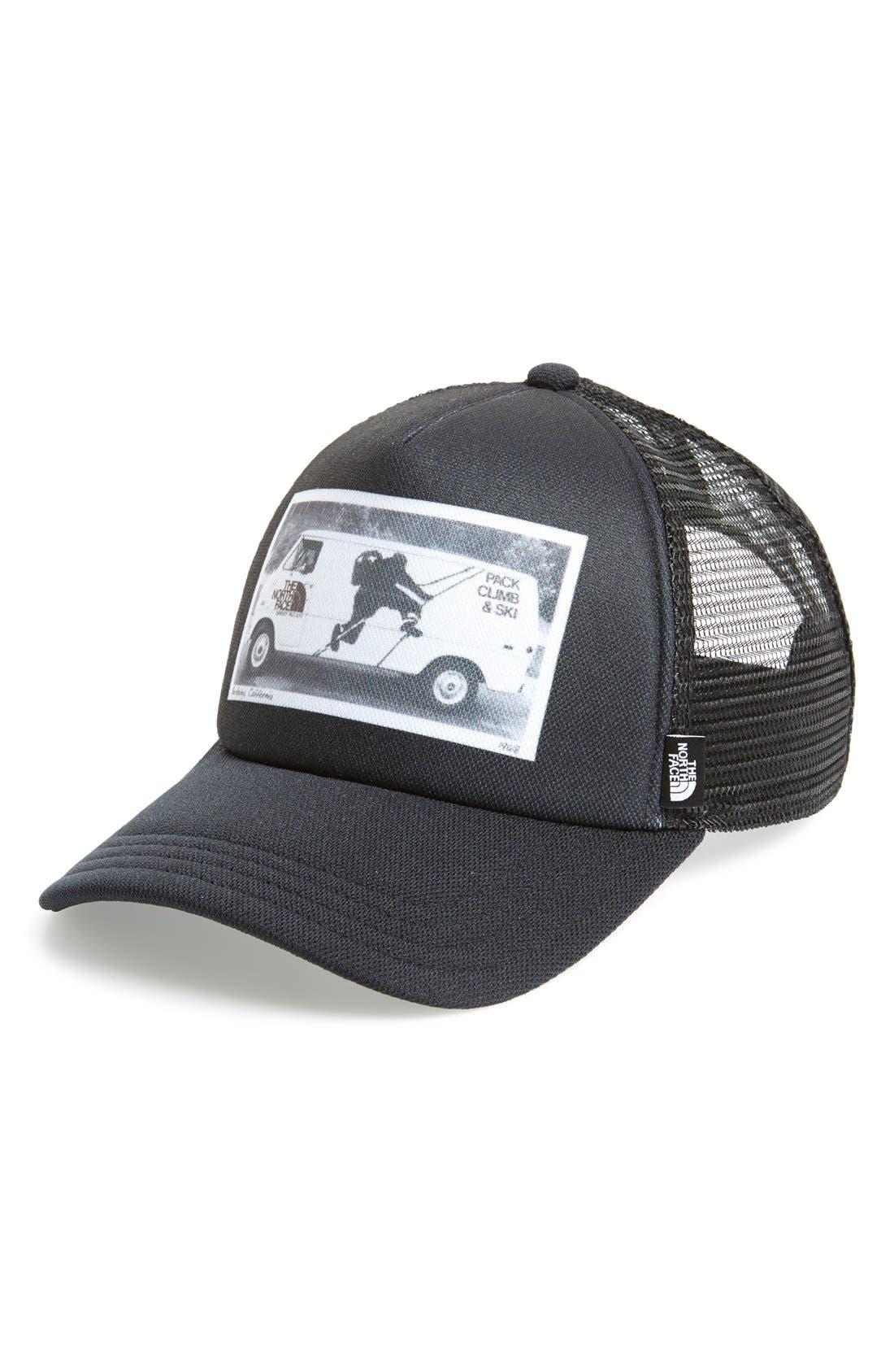 'Photobomb' Trucker Hat, Main, color, 001