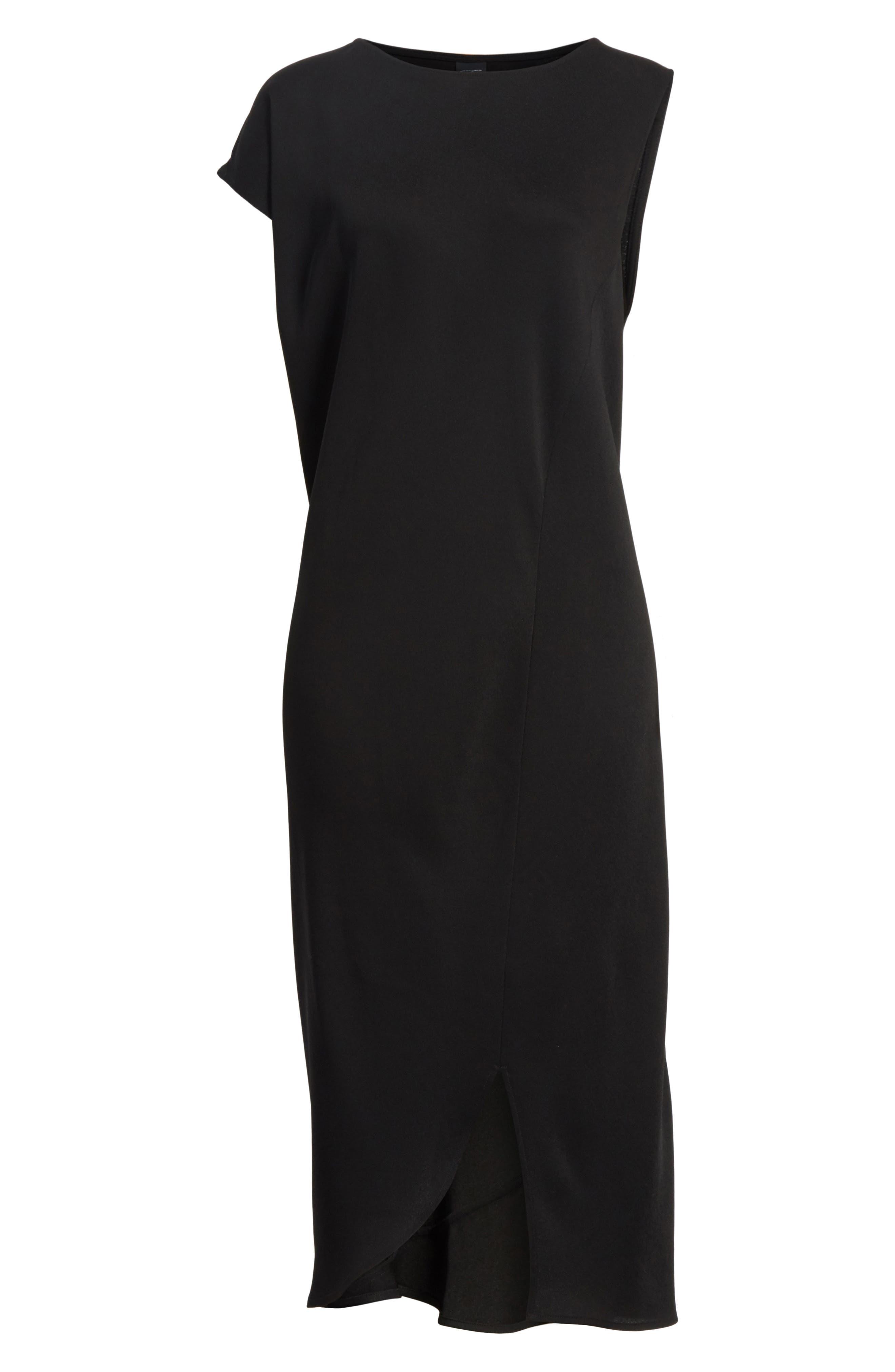 Tula Eco Drape Dress,                             Alternate thumbnail 6, color,                             001