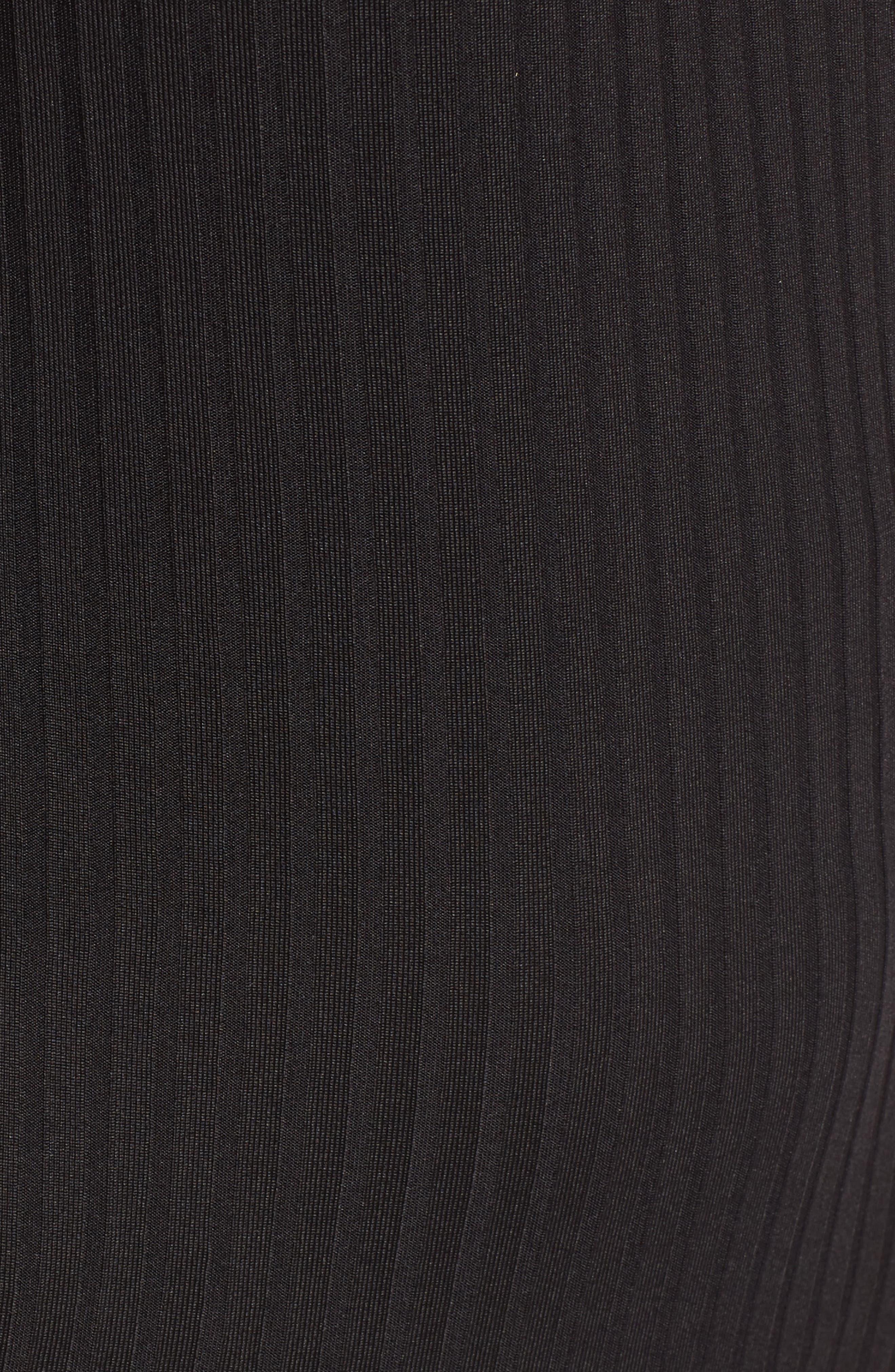 Rib Choker Bodysuit,                             Alternate thumbnail 5, color,                             001