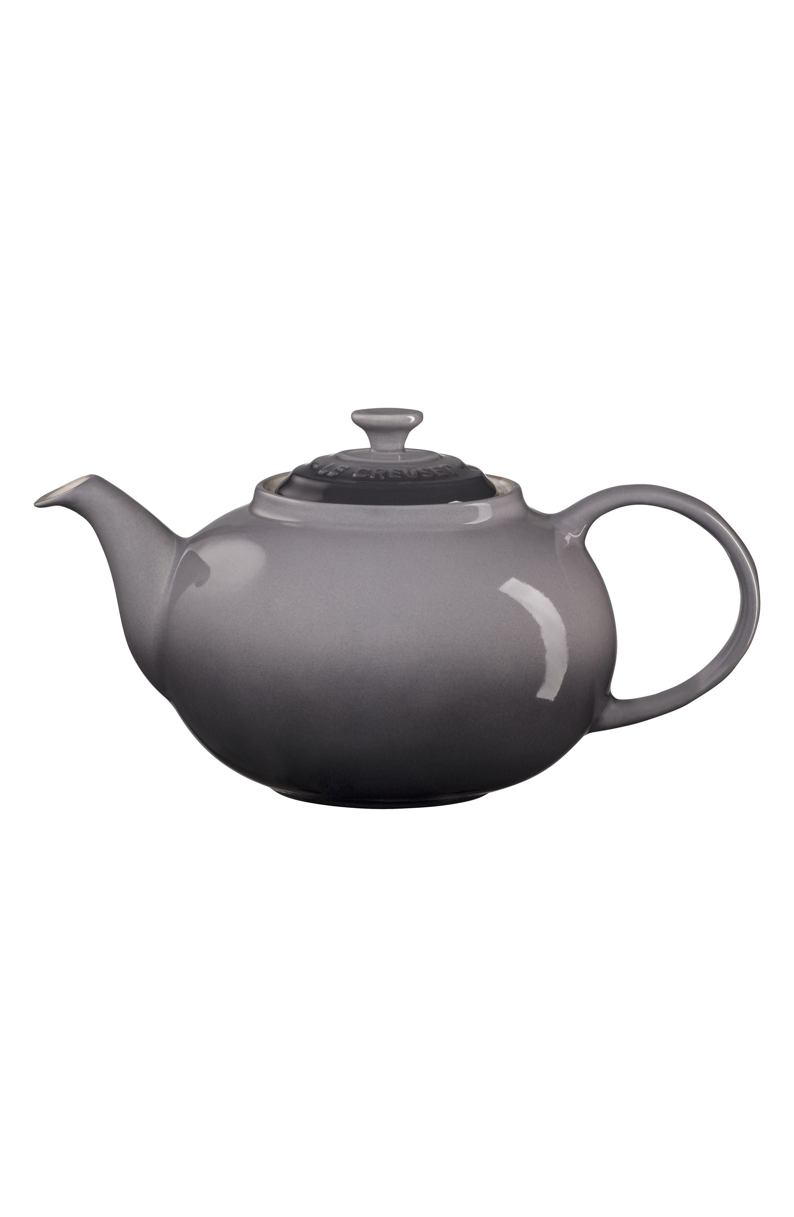 Traditional Stoneware Teapot, Main, color, 020